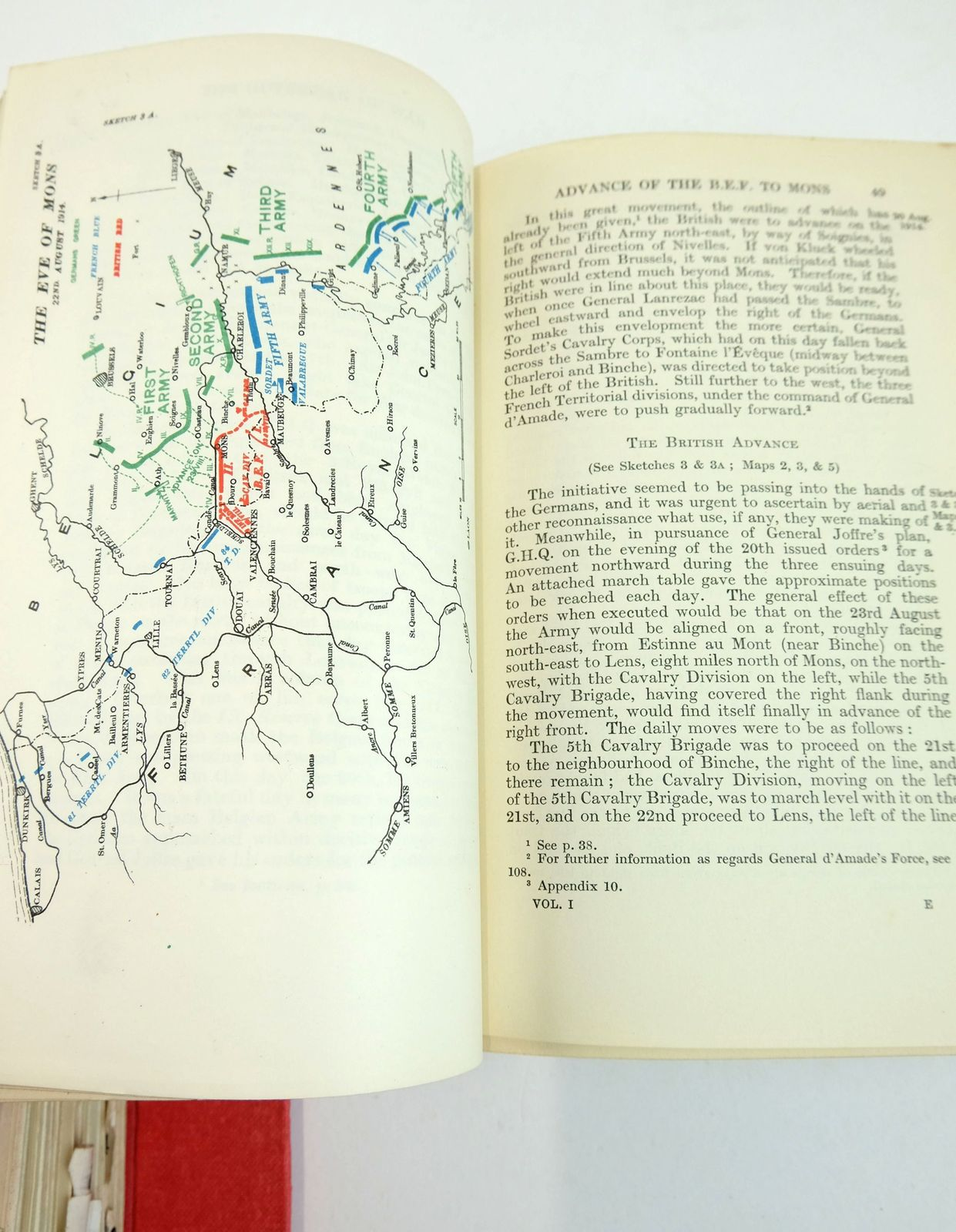 Photo of MILITARY OPERATIONS FRANCE AND BELGIUM 1914 (2 VOLUMES) written by Edmonds, James E. published by Macmillan & Co. Ltd. (STOCK CODE: 1819237)  for sale by Stella & Rose's Books