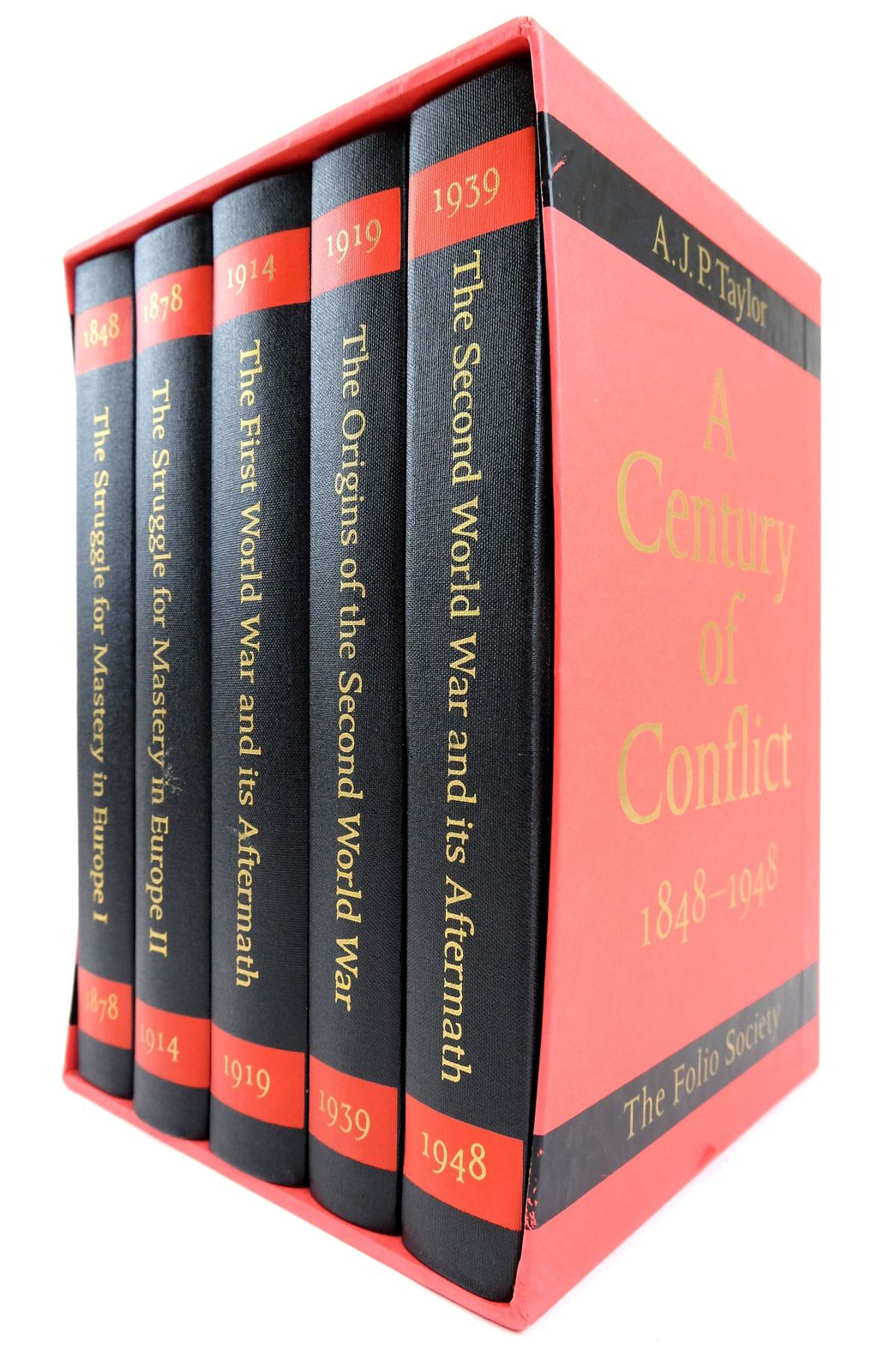 Photo of A CENTURY OF CONFLICT 1848-1948 (5 VOLUMES) written by Taylor, A.J.P. published by Folio Society (STOCK CODE: 1819239)  for sale by Stella & Rose's Books