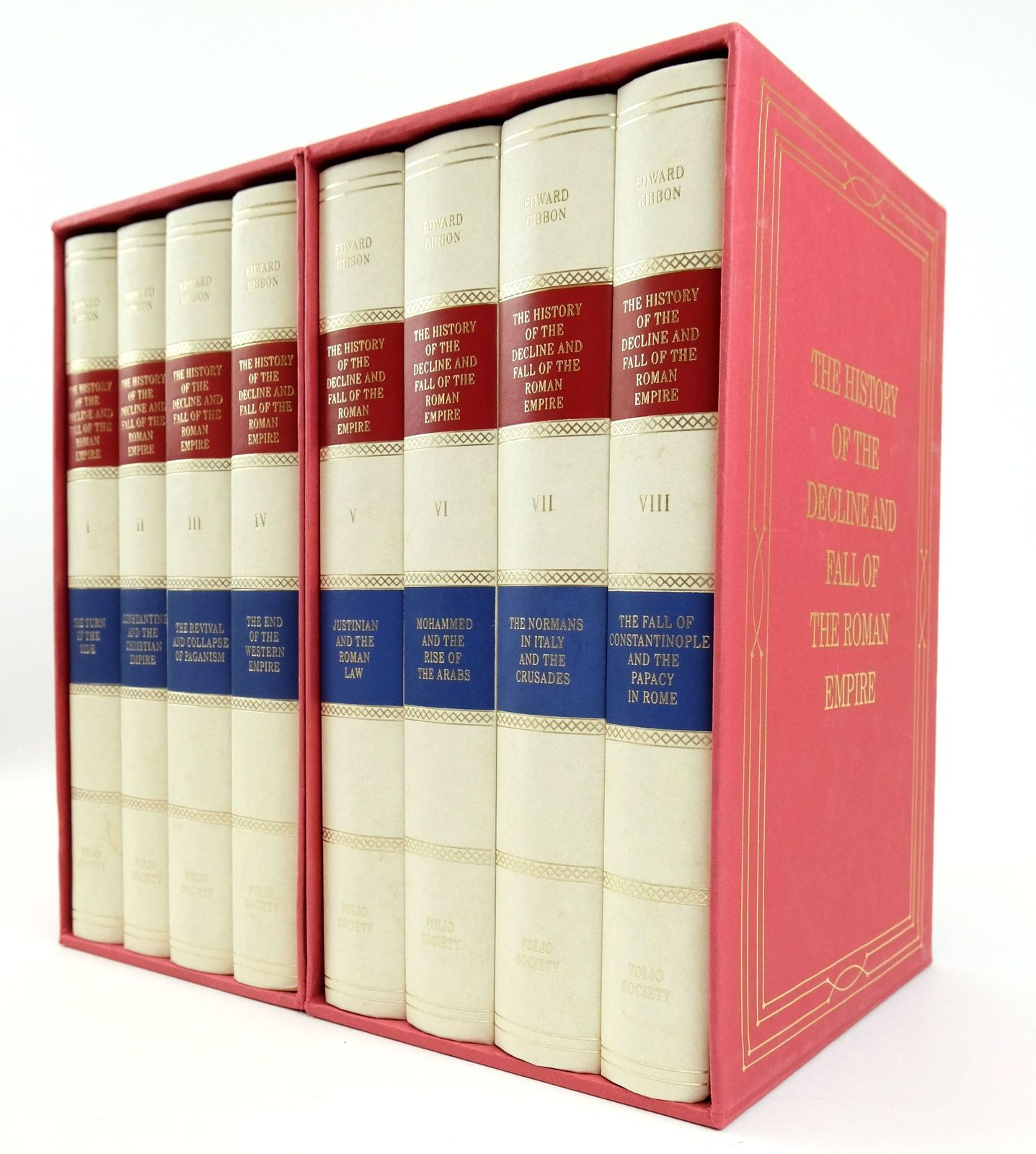 Photo of THE HISTORY OF THE DECLINE AND FALL OF THE ROMAN EMPIRE (8 VOLUMES)- Stock Number: 1819240