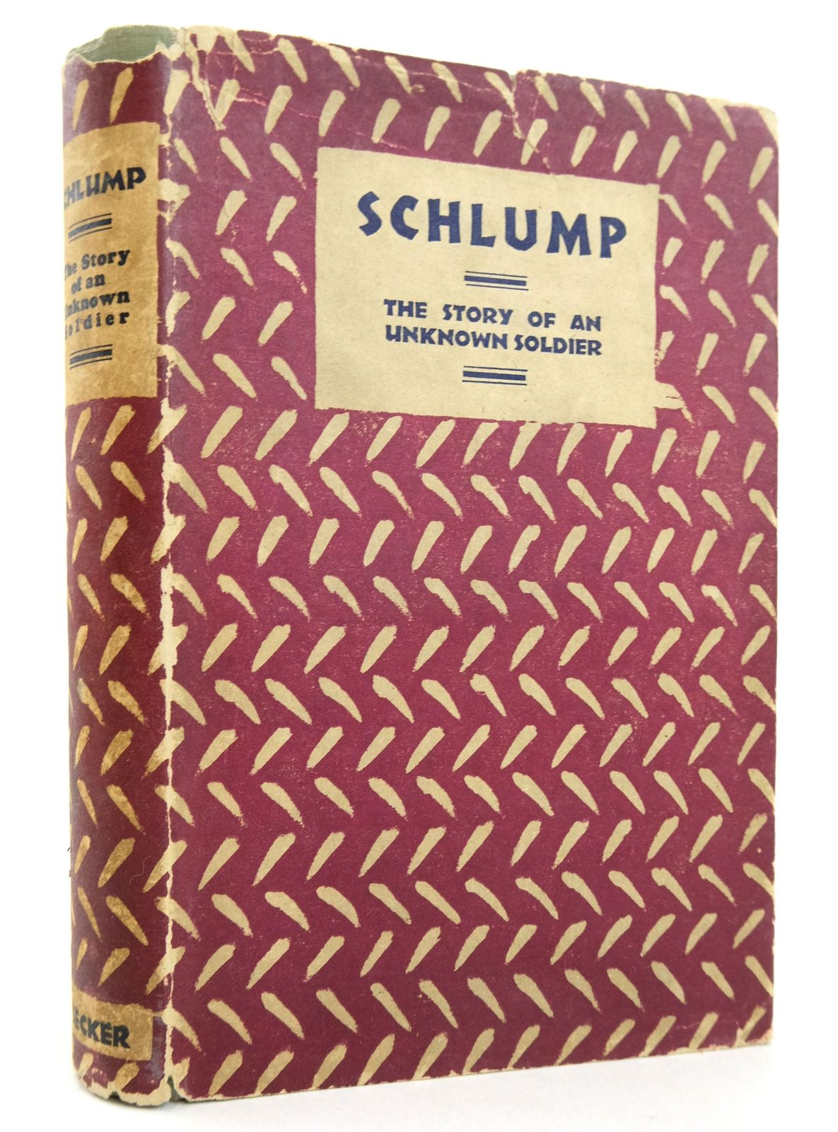 Photo of SCHLUMP: THE STORY OF AN UNKNOWN SOLDIER- Stock Number: 1819295