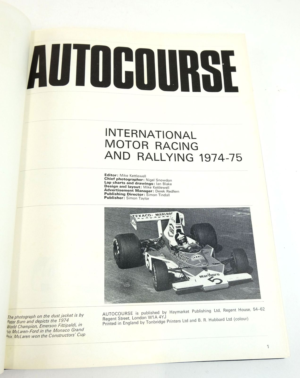 Photo of AUTOCOURSE 1974-75 written by Kettlewell, Mike published by Haymarket Publishing Limited (STOCK CODE: 1819298)  for sale by Stella & Rose's Books