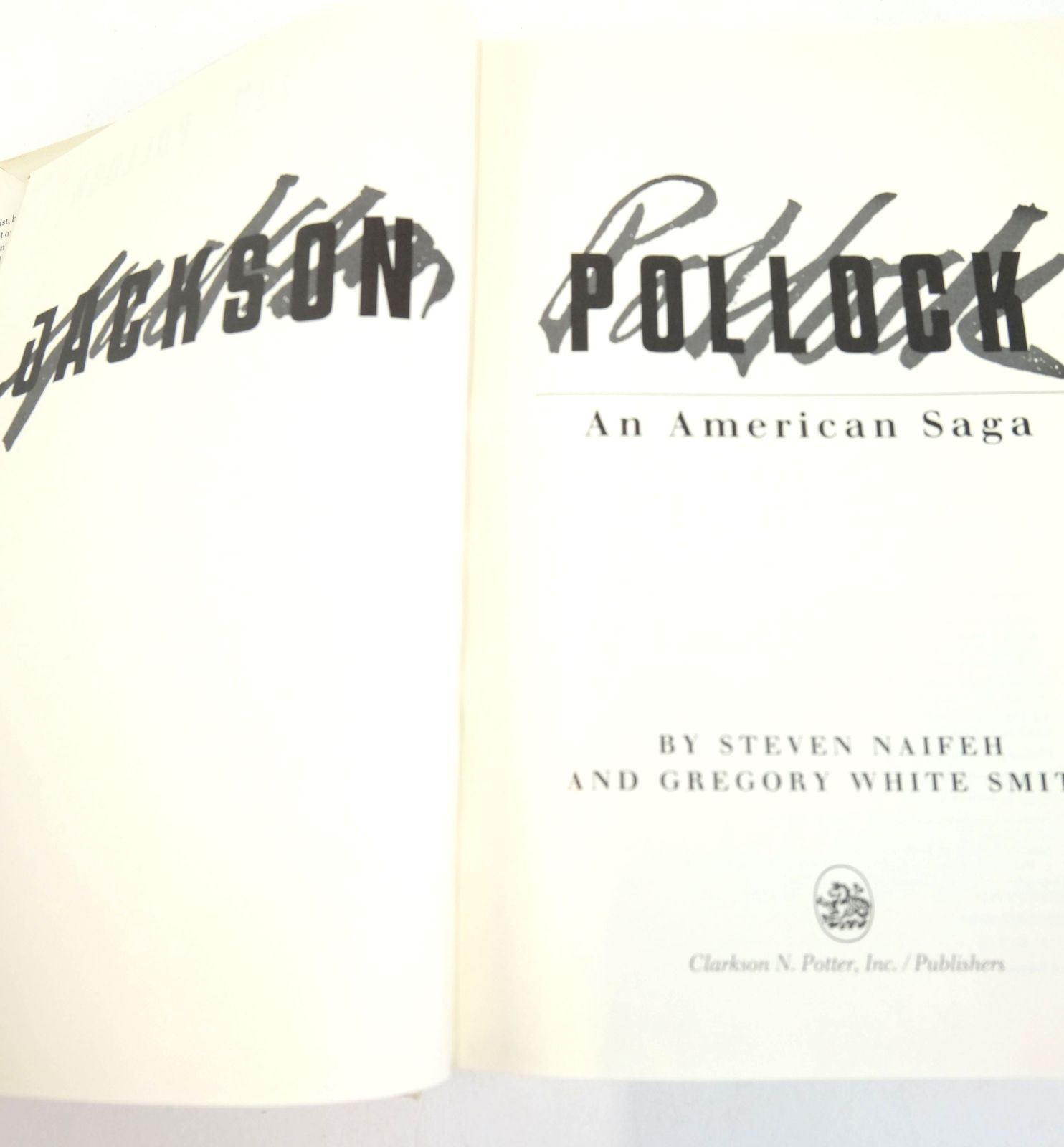 Photo of JACKSON POLLOCK: AN AMERICAN SAGA written by Naifeh, Steven