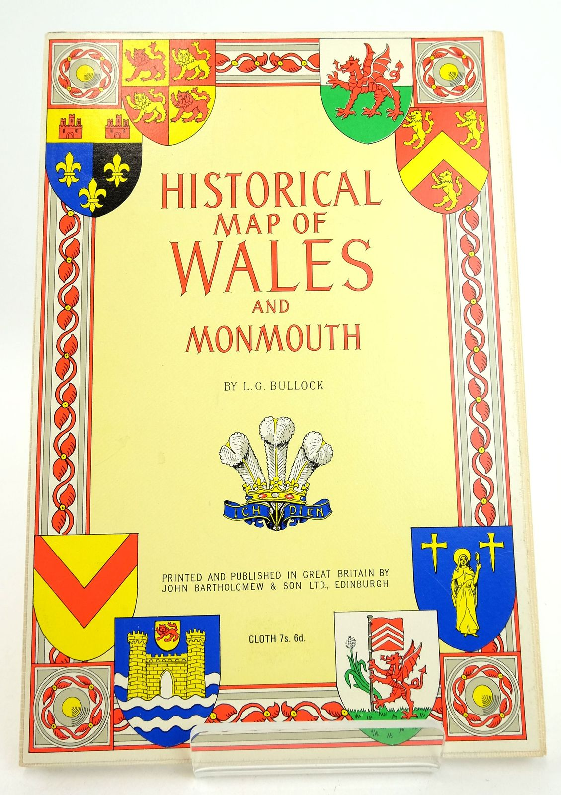 Photo of HISTORICAL MAP OF WALES AND MONMOUTH written by Bullock, L.G. published by John Bartholomew & Son Limited (STOCK CODE: 1819361)  for sale by Stella & Rose's Books