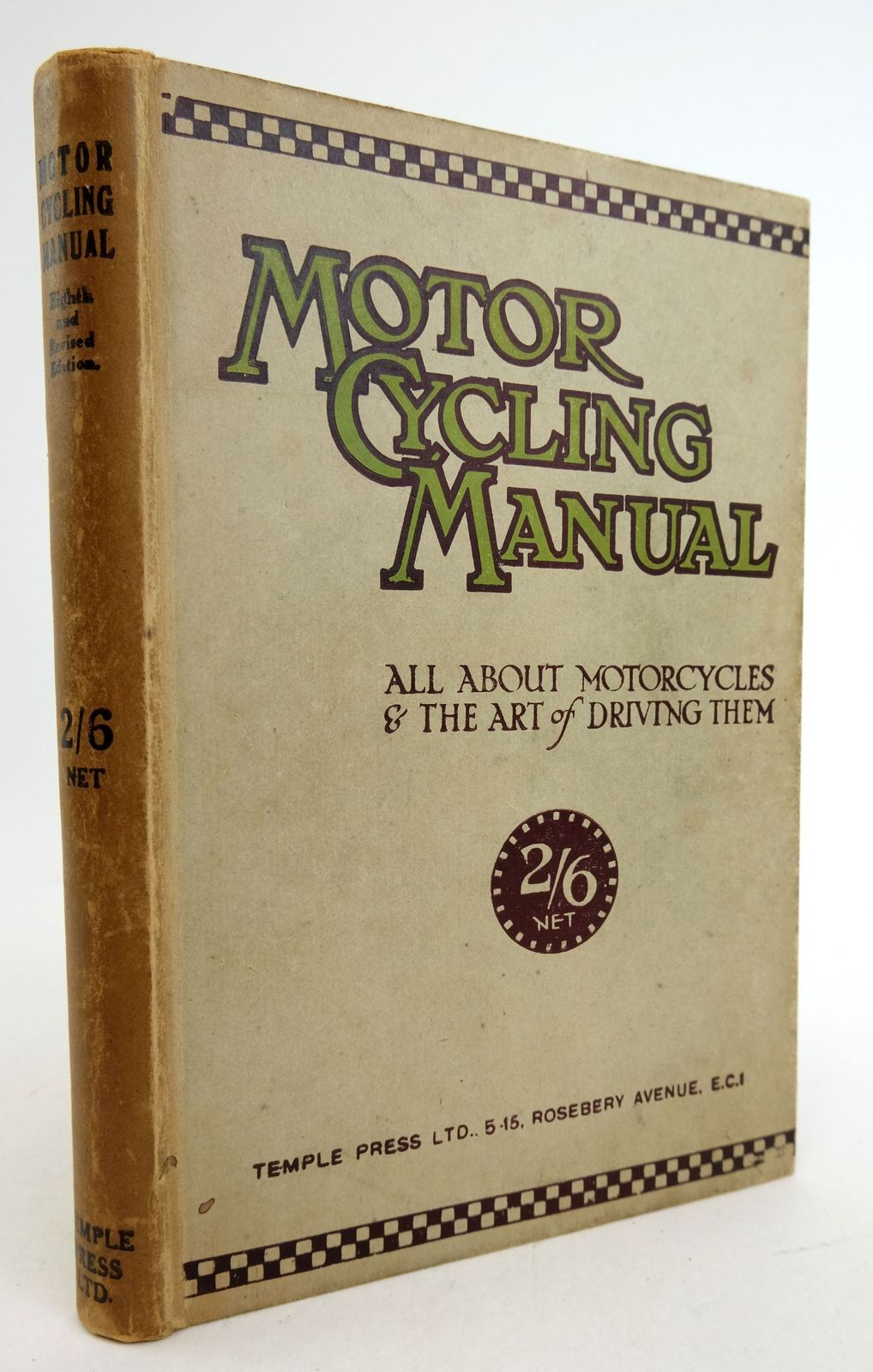 Photo of MOTOR CYCLING MANUAL: ALL ABOUT MOTORCYCLES AND THE ART OF DRIVING THEM- Stock Number: 1819442