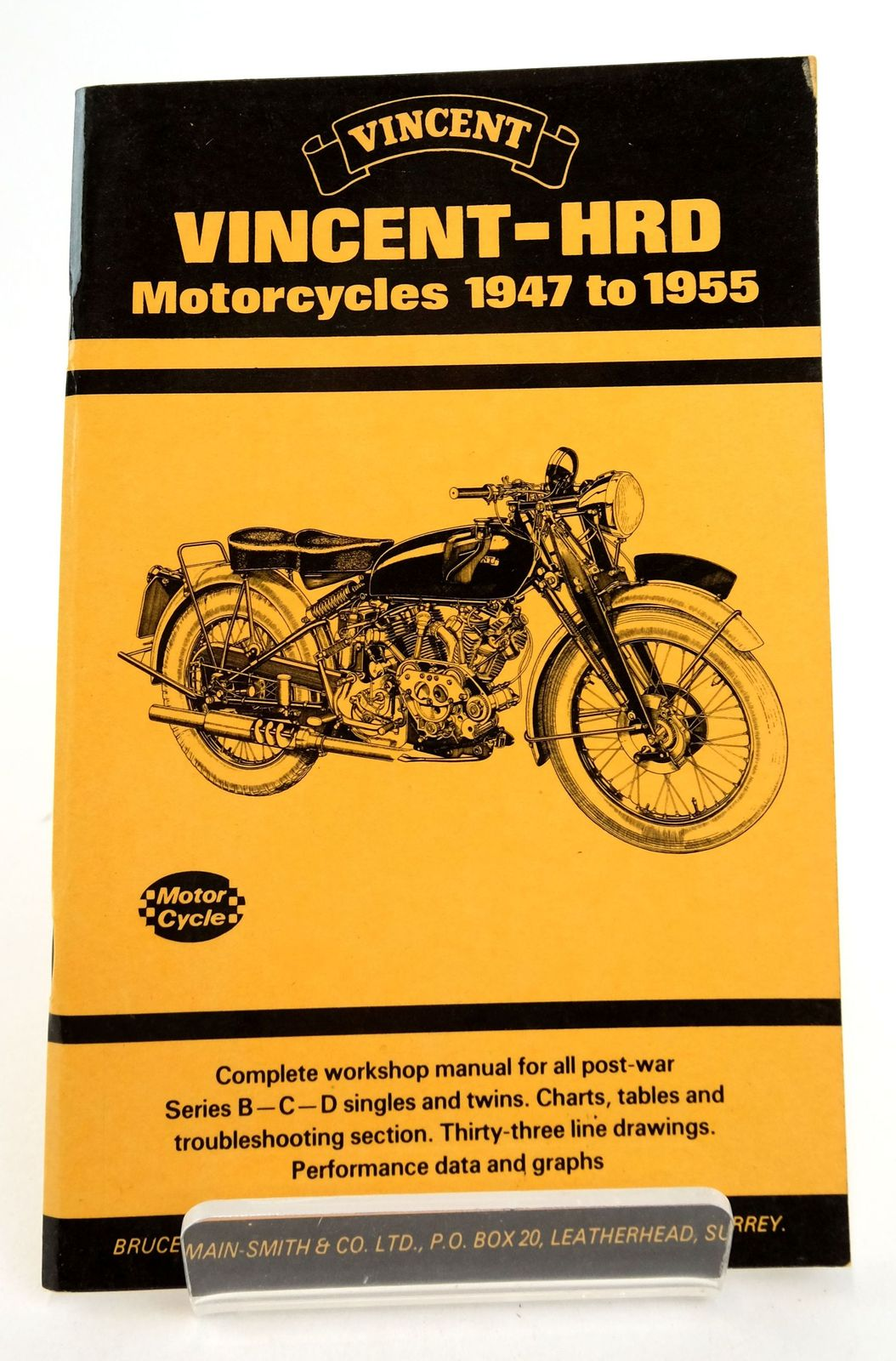 Photo of VINCENT-HRD MOTORCYCLES 1947-1955 published by Bruce Main-Smith & Co. Ltd. (STOCK CODE: 1819445)  for sale by Stella & Rose's Books