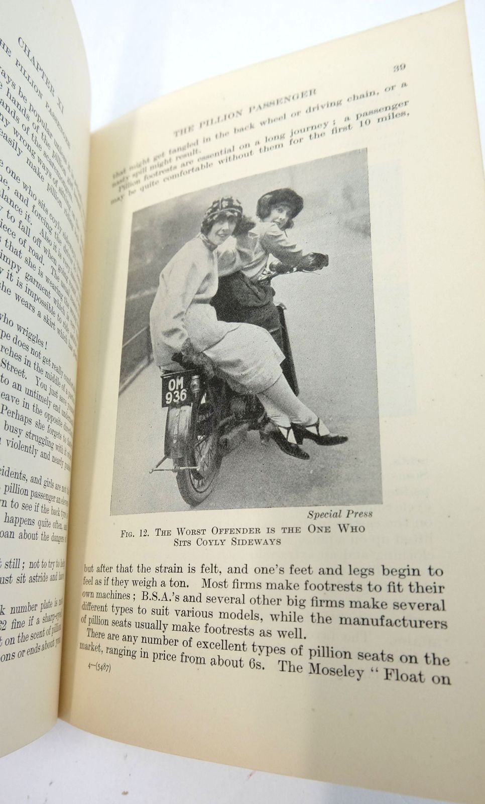 Photo of MOTOR-CYCLING FOR WOMEN (THE MOTOR-CYCLIST'S LIBRARY) written by Debenham, Betty