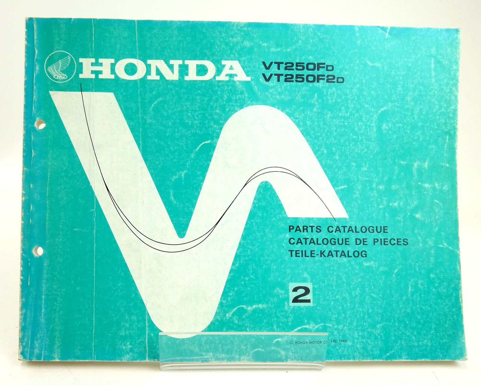 Photo of HONDA VT250FD VT250F2D: PARTS CATALOGUE 2 published by Honda Motor Co. Ltd. (STOCK CODE: 1819598)  for sale by Stella & Rose's Books