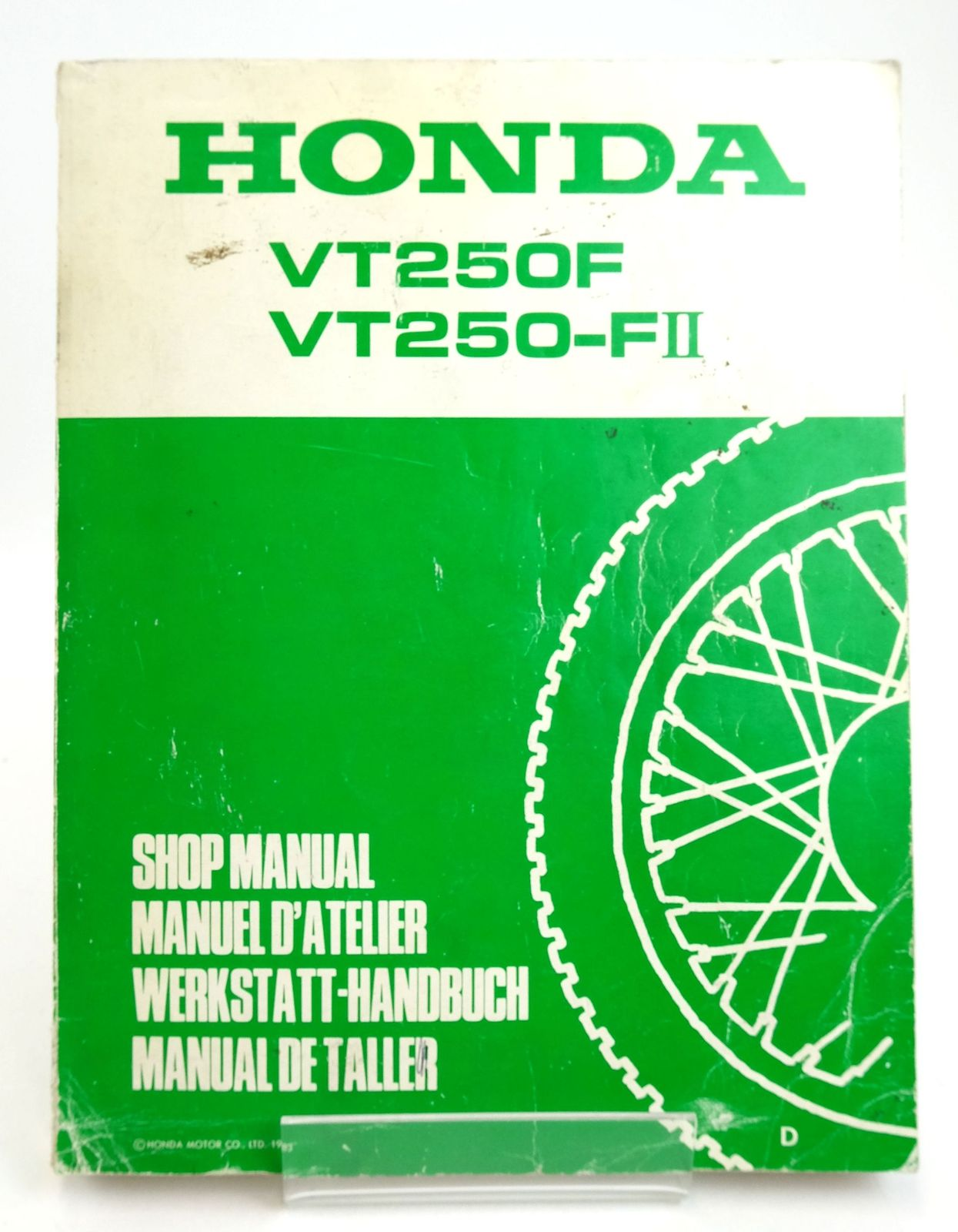 Photo of HONDA VT250F VT250-FII SHOP MANUAL- Stock Number: 1819599
