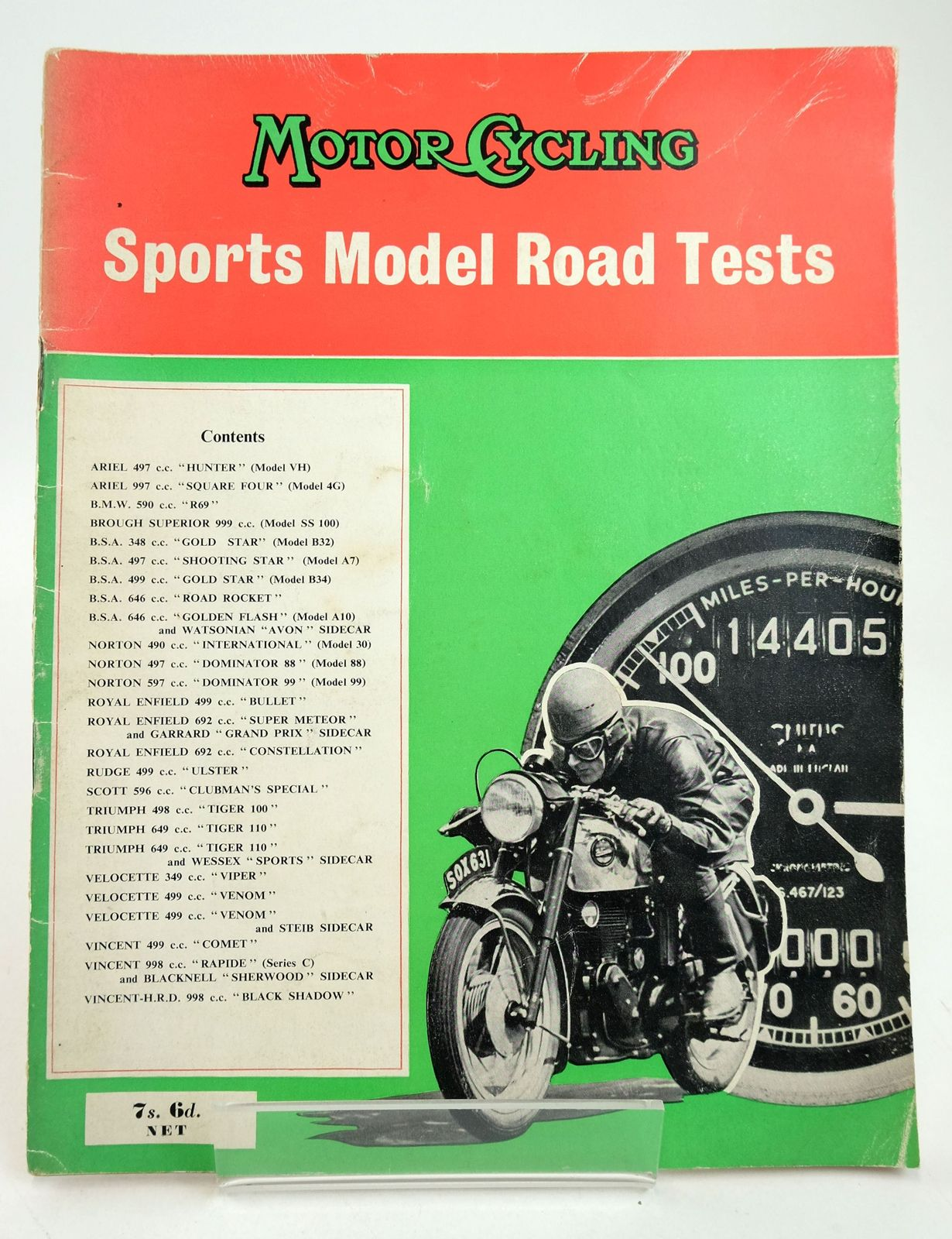 Photo of MOTOR CYCLING SPORTS MODEL ROAD TESTS written by Holliday, R.R. published by Temple Press Limited (STOCK CODE: 1819604)  for sale by Stella & Rose's Books