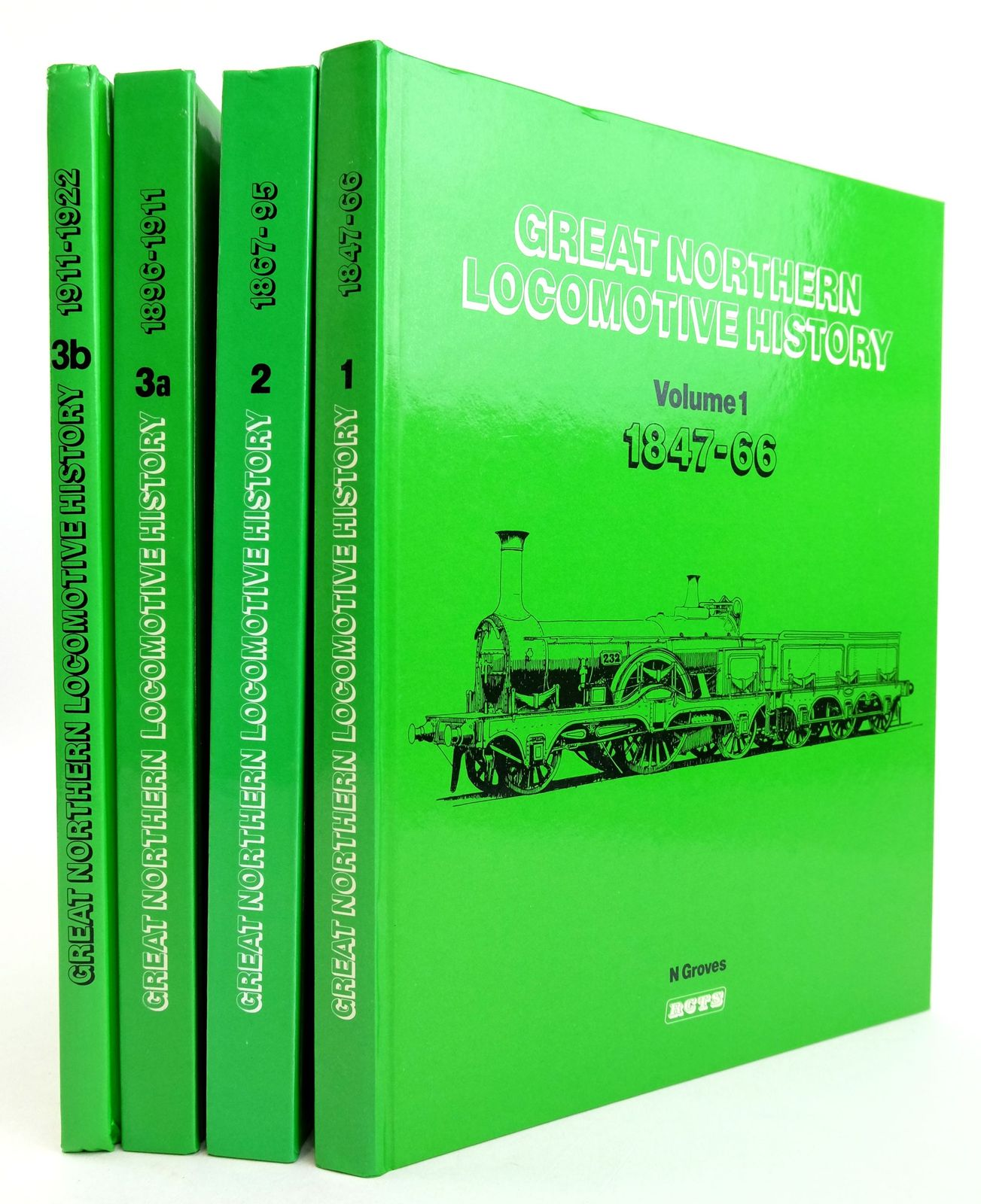 Photo of GREAT NORTHERN LOCOMOTIVE HISTORY (4 VOLUMES) written by Groves, N. published by The Railway Correspondence And Travel Society (STOCK CODE: 1819690)  for sale by Stella & Rose's Books