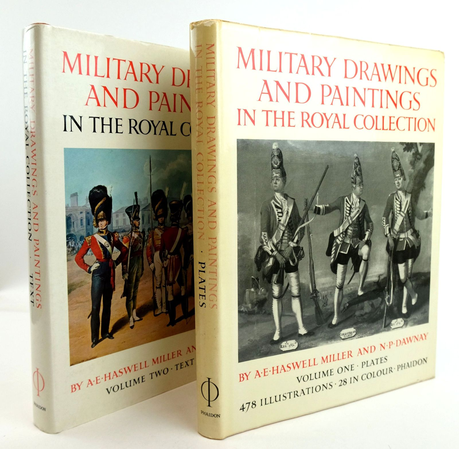 Photo of MILITARY DRAWINGS AND PAINTINGS IN THE COLLECTION OF HER MAJESTY THE QUEEN (2 VOLUMES) written by Miller, A.E. Haswell Dawnay, N.P. published by Phaidon (STOCK CODE: 1819800)  for sale by Stella & Rose's Books