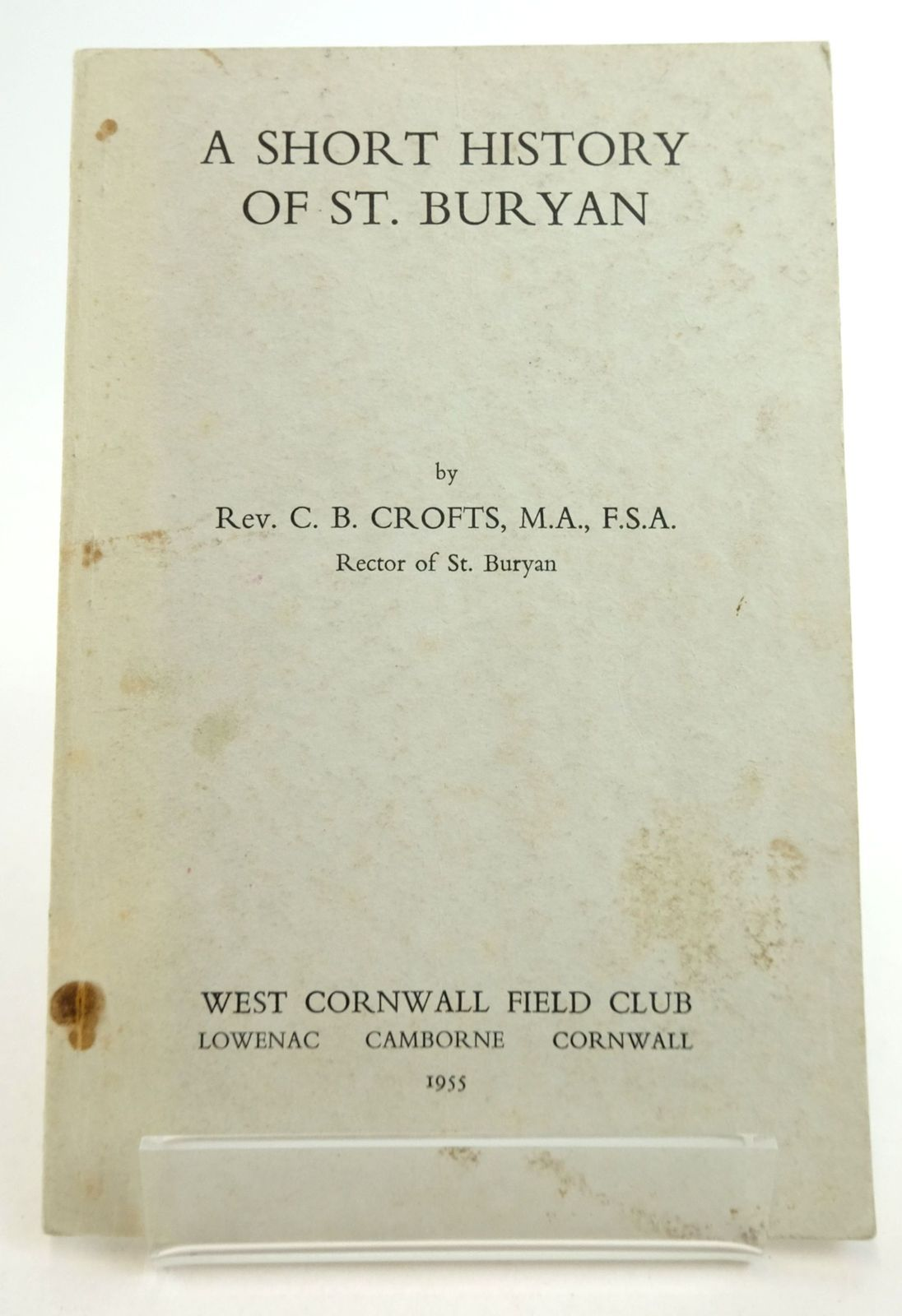 Photo of A SHORT HISTORY OF ST. BURYAN- Stock Number: 1819825
