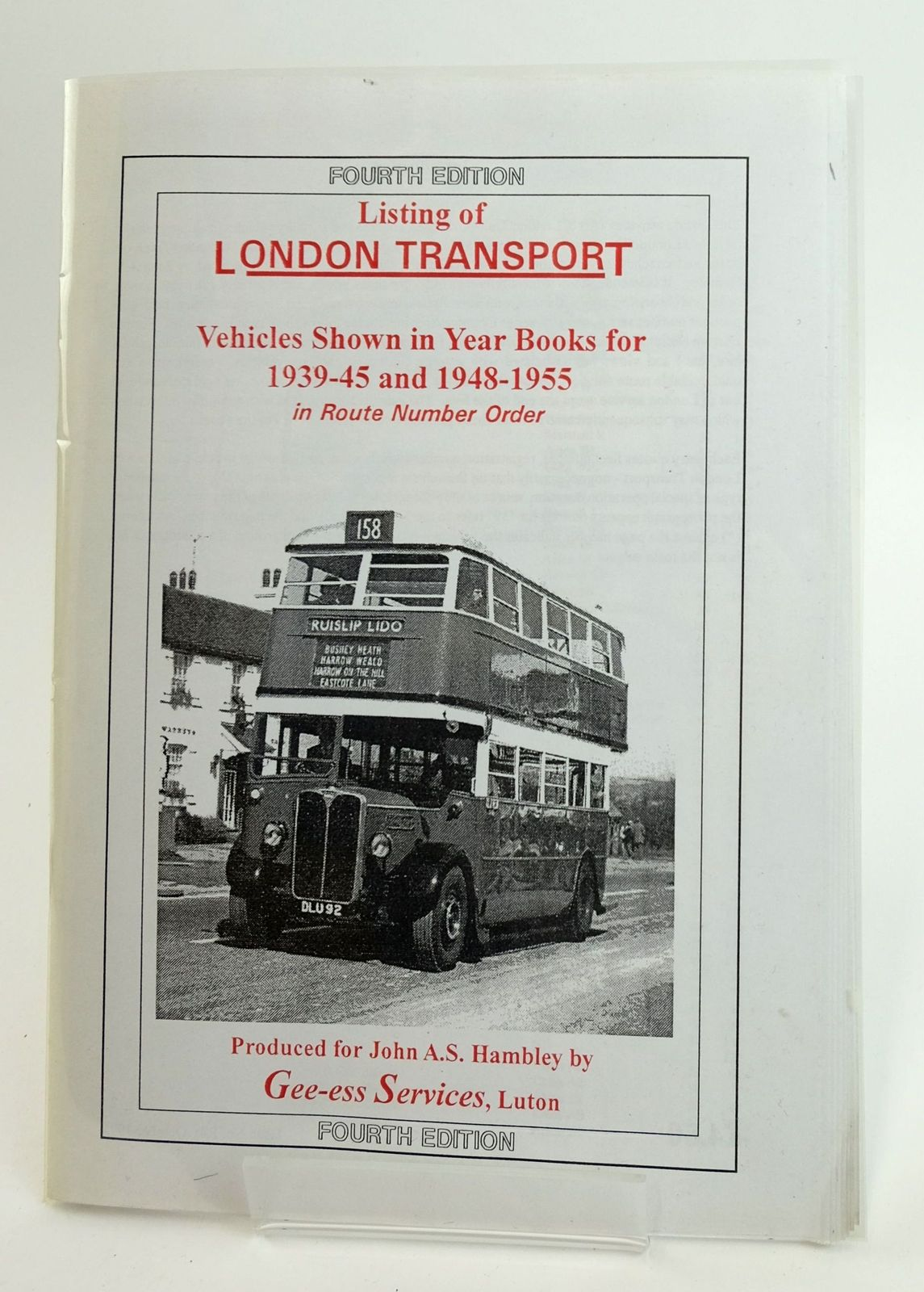 Photo of LONDON TRANSPORT YEARBOOK LISTING 1939-45 AND 1948-1955- Stock Number: 1820031