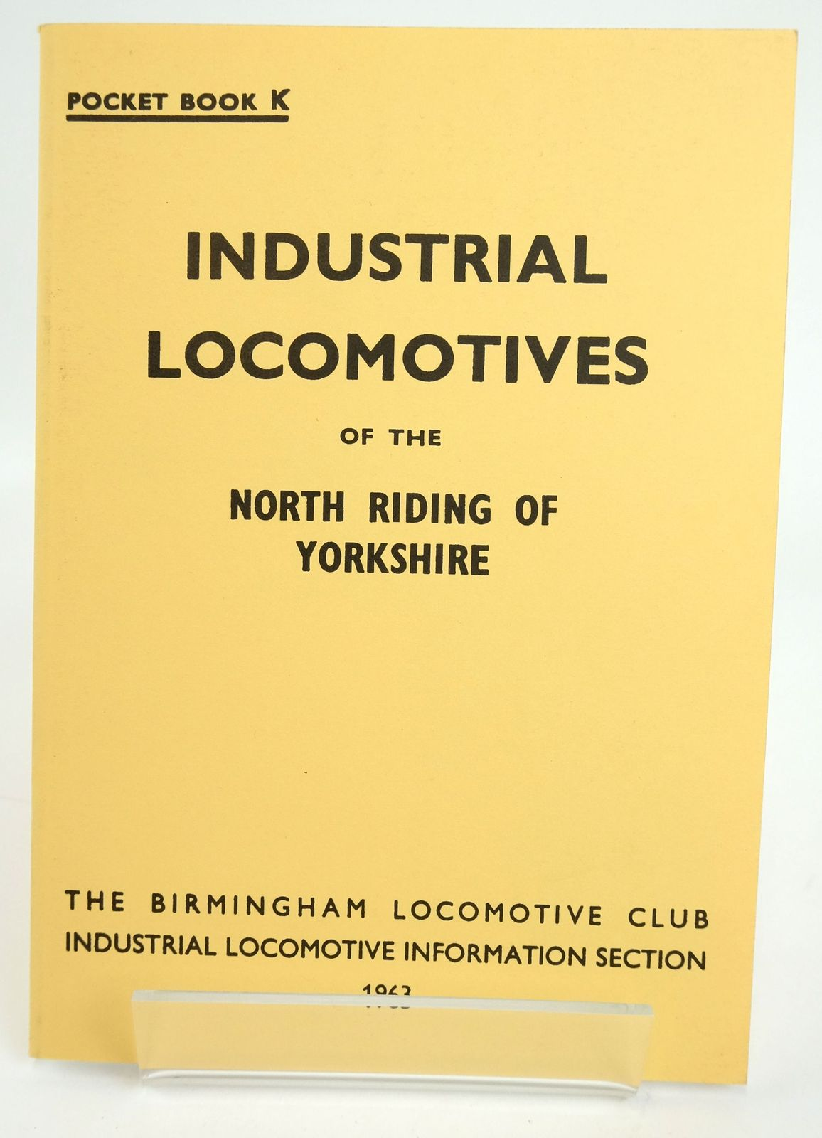 Photo of INDUSTRIAL LOCOMOTIVES OF THE NORTH RIDING OF YORKSHIRE written by Tonks, Eric S. published by The Industrial Railway Society (STOCK CODE: 1820110)  for sale by Stella & Rose's Books