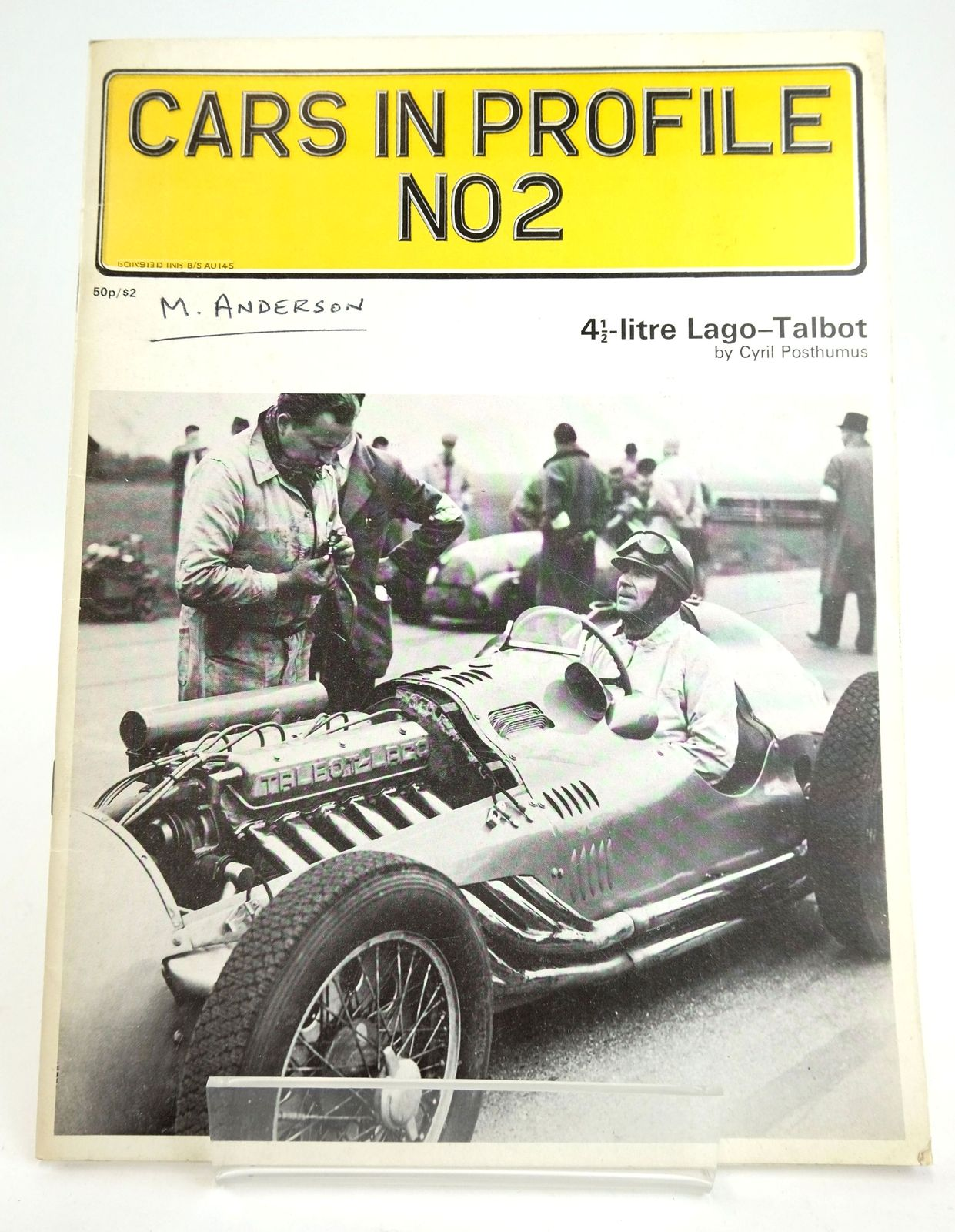Photo of CARS IN PROFILE NO2: 4 1/2 LITRE LAGO-TALBOT written by Posthumus, Cyril published by Profile Publications (STOCK CODE: 1820203)  for sale by Stella & Rose's Books