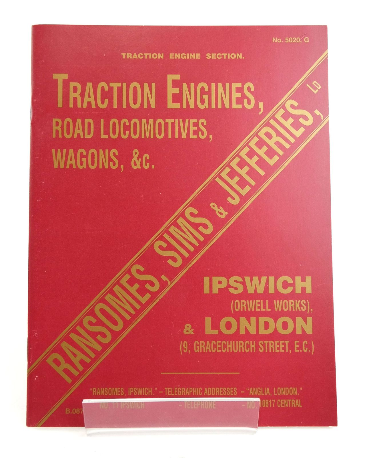 Photo of TRACTION ENGINE SECTION: ILLUSTRATED CATALOGUE OF TRACTION ENGINES, ROAD LOCOMOTIVES, WAGONS, &C. published by The Road Locomotive Society (STOCK CODE: 1820207)  for sale by Stella & Rose's Books