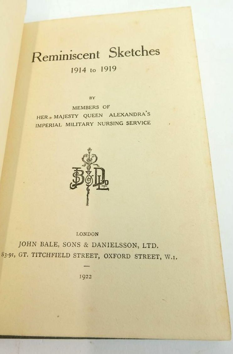Photo of REMINISCENT SKETCHES 1914 TO 1919 published by John Bale, Sons & Danielsson Ltd. (STOCK CODE: 1820343)  for sale by Stella & Rose's Books