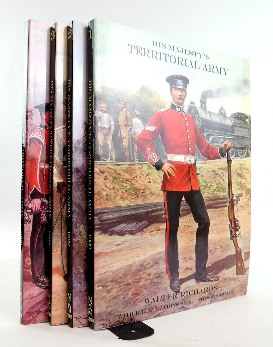 Photo of HIS MAJESTY'S TERRITORIAL ARMY (4 VOLUMES) written by Richards, Walter illustrated by Woodville, R. Caton published by The Naval & Military Press Ltd. (STOCK CODE: 1820355)  for sale by Stella & Rose's Books
