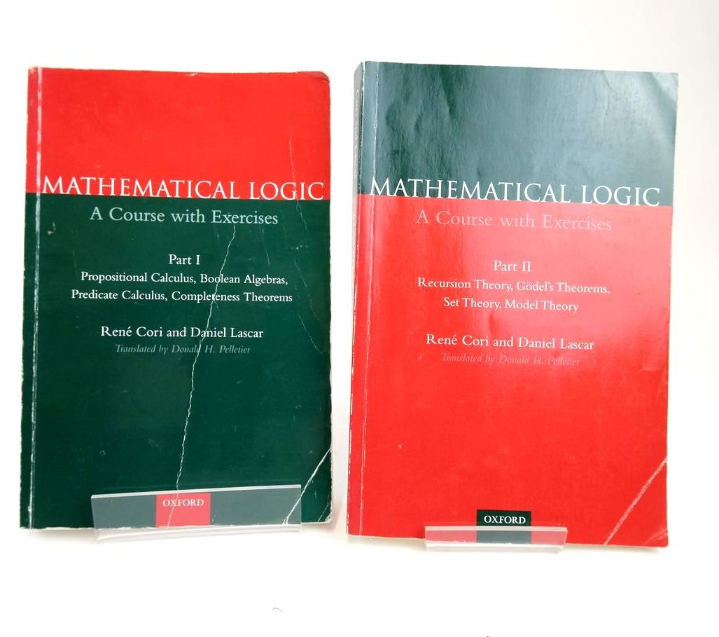 Photo of MATHEMATICAL LOGIC: A COURSE WITH EXCERCISES (2 VOLUMES) written by Cori, Rene Lascar, Daniel published by Oxford University Press (STOCK CODE: 1820375)  for sale by Stella & Rose's Books