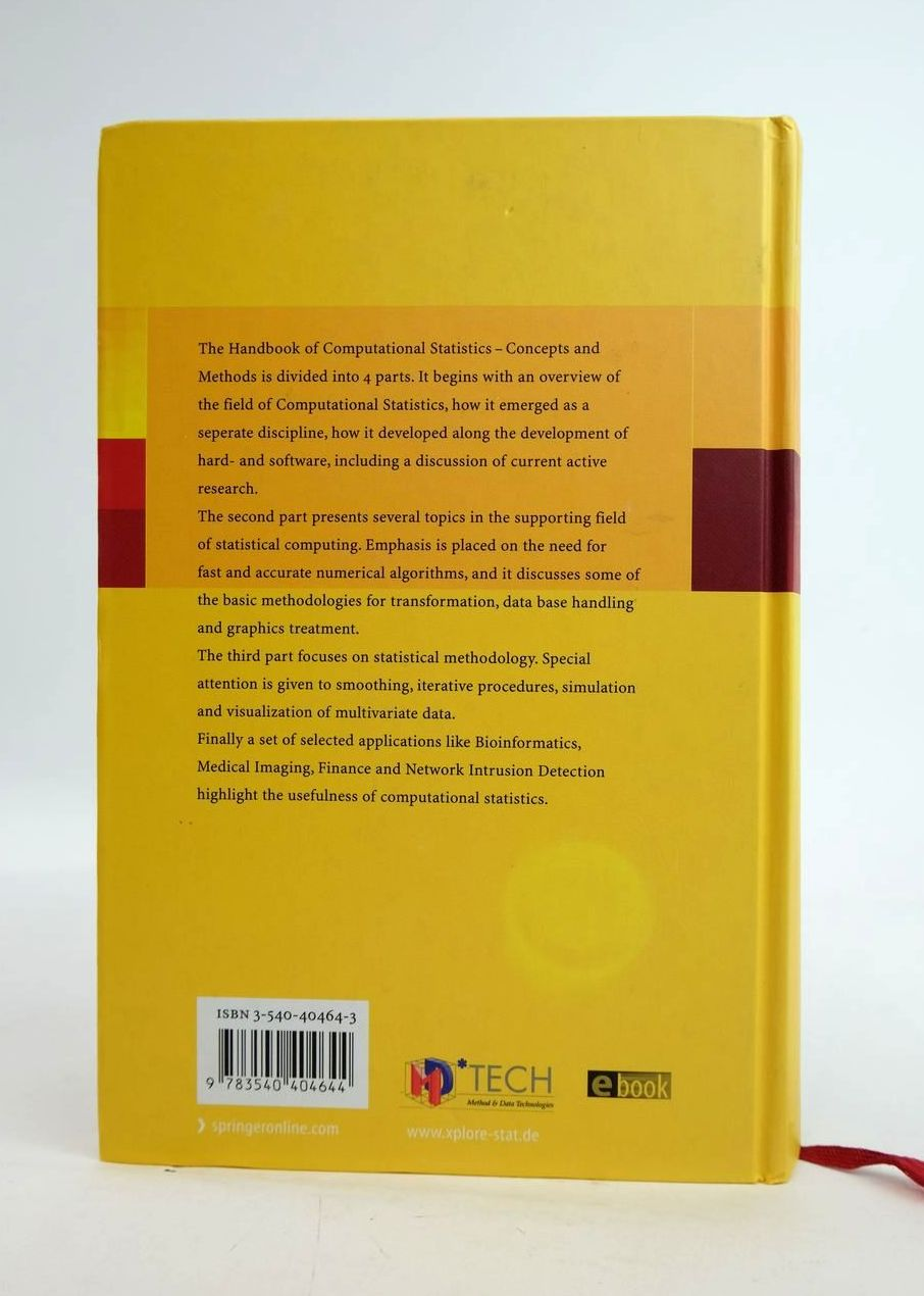 Photo of HANDBOOK OF COMPUTATIONAL STATISTICS: CONCEPTS AND METHODS written by Gentle, James E. Hardle, Wolfgang Mori, Yuichi published by Springer (STOCK CODE: 1820432)  for sale by Stella & Rose's Books
