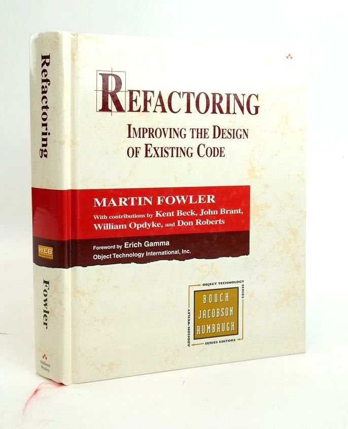 Photo of REFACTORING: IMPROVING THE DESIGN OF EXISTING CODE (OBJECT TECHNOLOGY SERIES)- Stock Number: 1820451