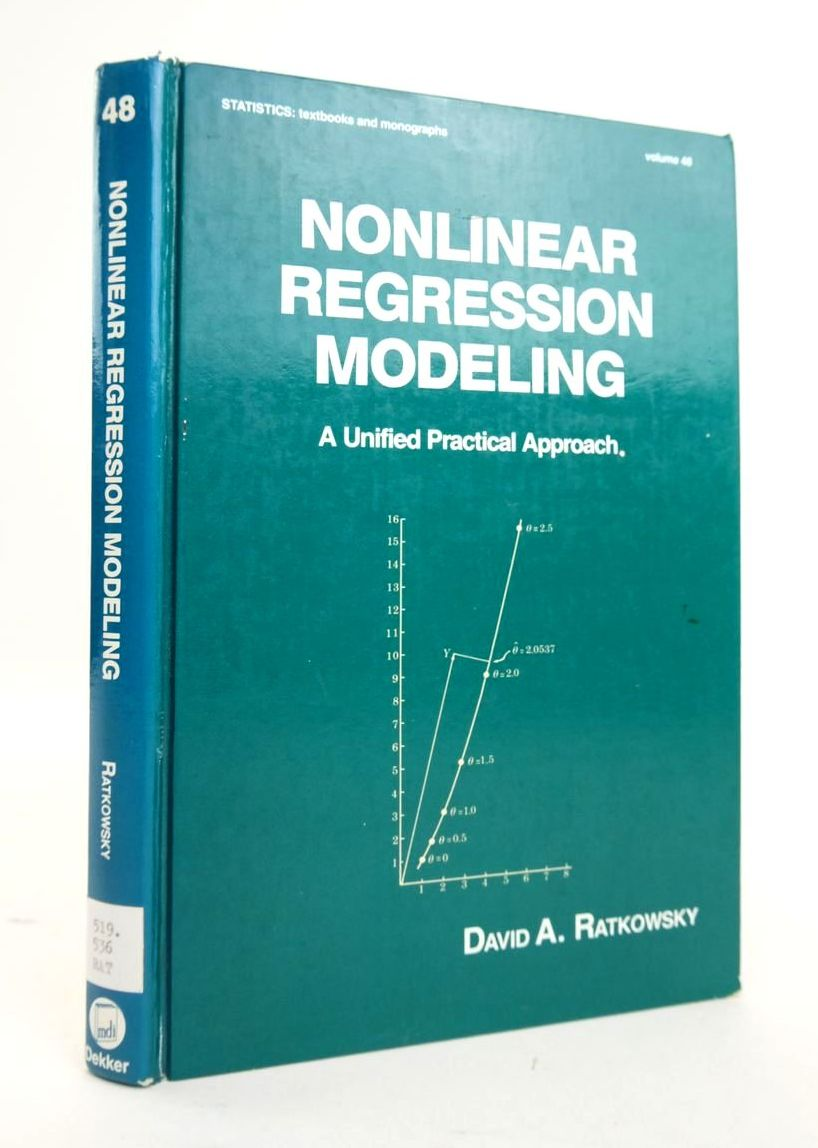 Photo of NONLINEAR REGRESSION MODELING: A UNIFIED PRACTICAL APPROACH- Stock Number: 1820480