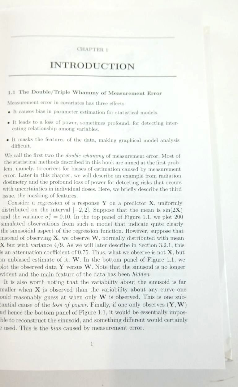 Photo of MEASUREMENT ERROR IN NONLINEAR MODELS: A MODERN PERSPECTIVE written by Carroll, Raymond J. Ruppert, David Stefanski, Leonard A. Crainiceanu, Ciprian M. published by Chapman & Hall (STOCK CODE: 1820616)  for sale by Stella & Rose's Books