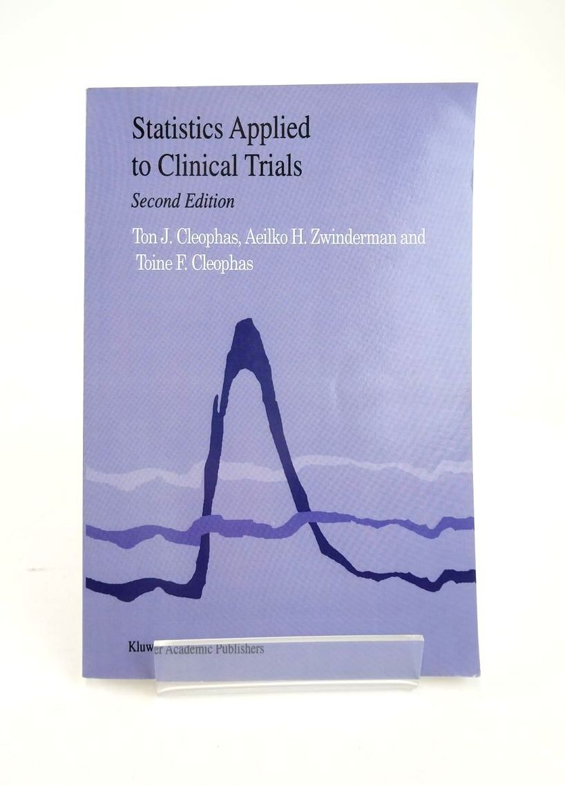 Photo of STATISTICS APPLIED TO CLINICAL TRIALS- Stock Number: 1820875