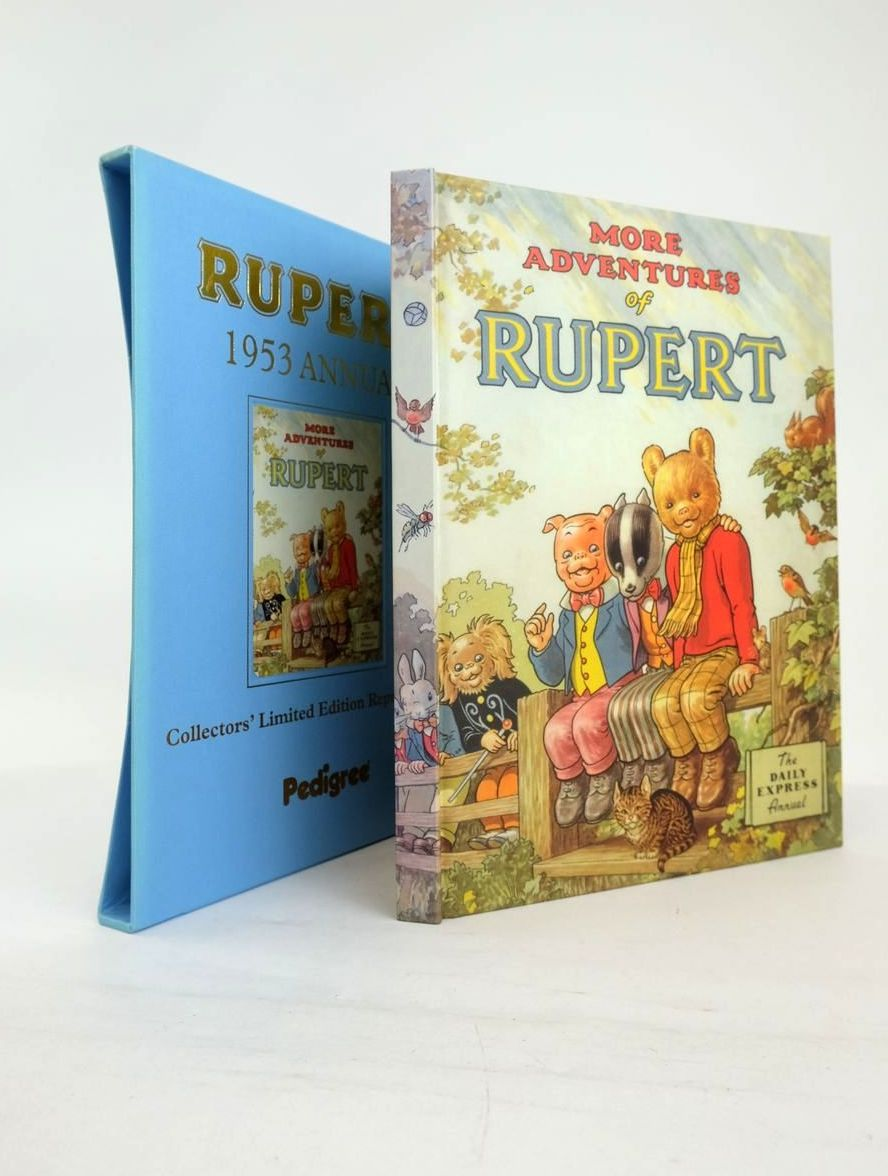Photo of RUPERT ANNUAL 1953 (FACSIMILE) - MORE ADVENTURES OF RUPERT written by Bestall, Alfred illustrated by Bestall, Alfred published by Pedigree Books Limited (STOCK CODE: 1820892)  for sale by Stella & Rose's Books