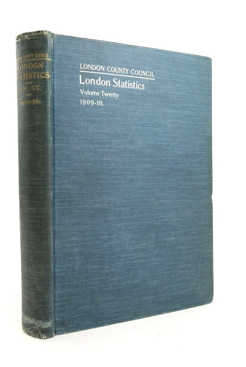 Photo of LONDON STATISTICS 1909-10 VOL. XX- Stock Number: 1821005