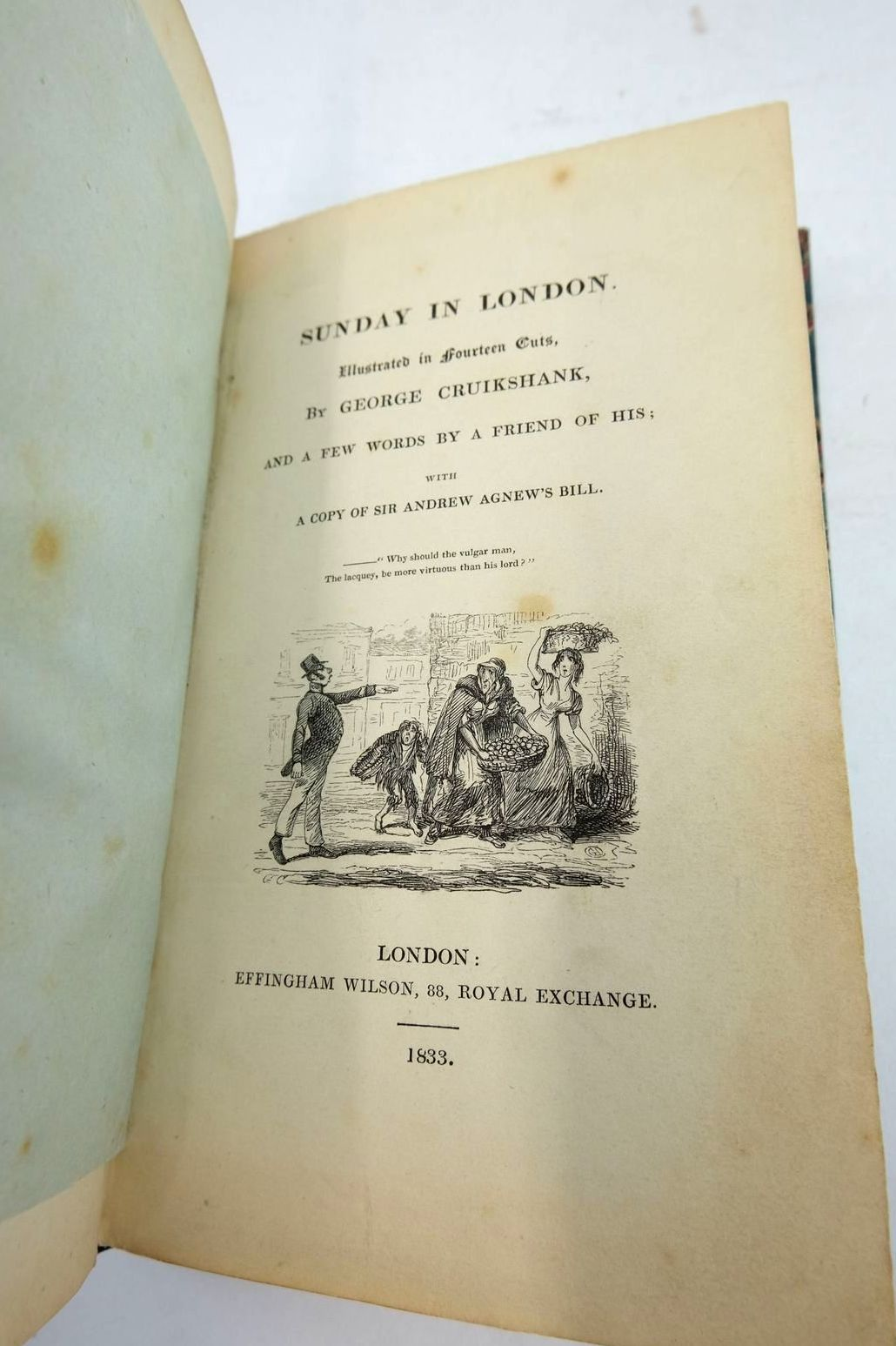 Photo of SUNDAY IN LONDON written by Cruikshank, George illustrated by Cruikshank, George published by Effingham Wilson (STOCK CODE: 1821314)  for sale by Stella & Rose's Books