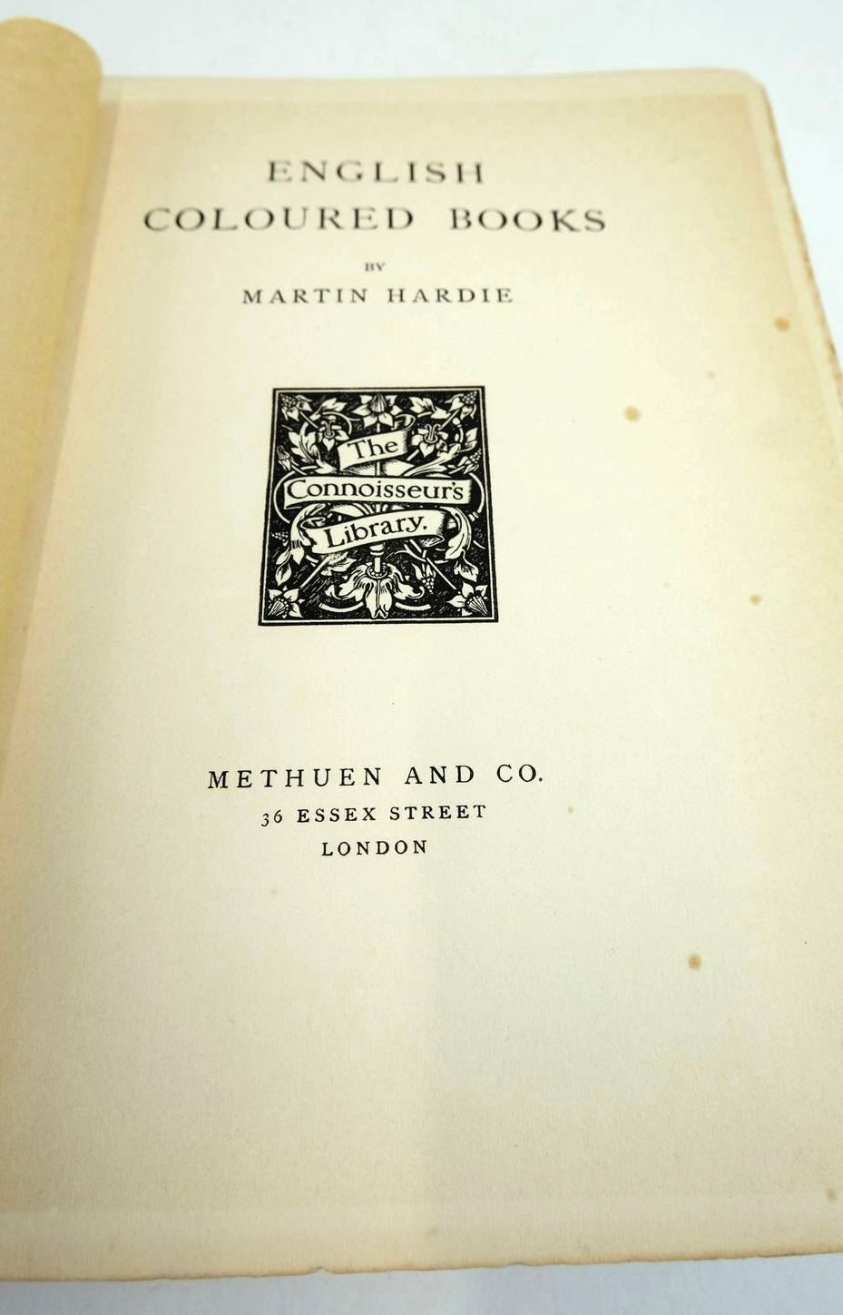 Photo of ENGLISH COLOURED BOOKS written by Hardie, Martin published by Methuen & Co. (STOCK CODE: 1821318)  for sale by Stella & Rose's Books