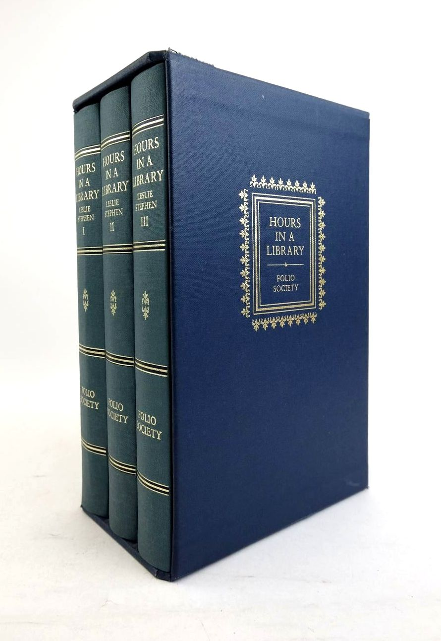 Photo of HOURS IN A LIBRARY (3 VOLUMES) written by Stephen, Leslie Steinberg, Jonathan published by Folio Society (STOCK CODE: 1821326)  for sale by Stella & Rose's Books