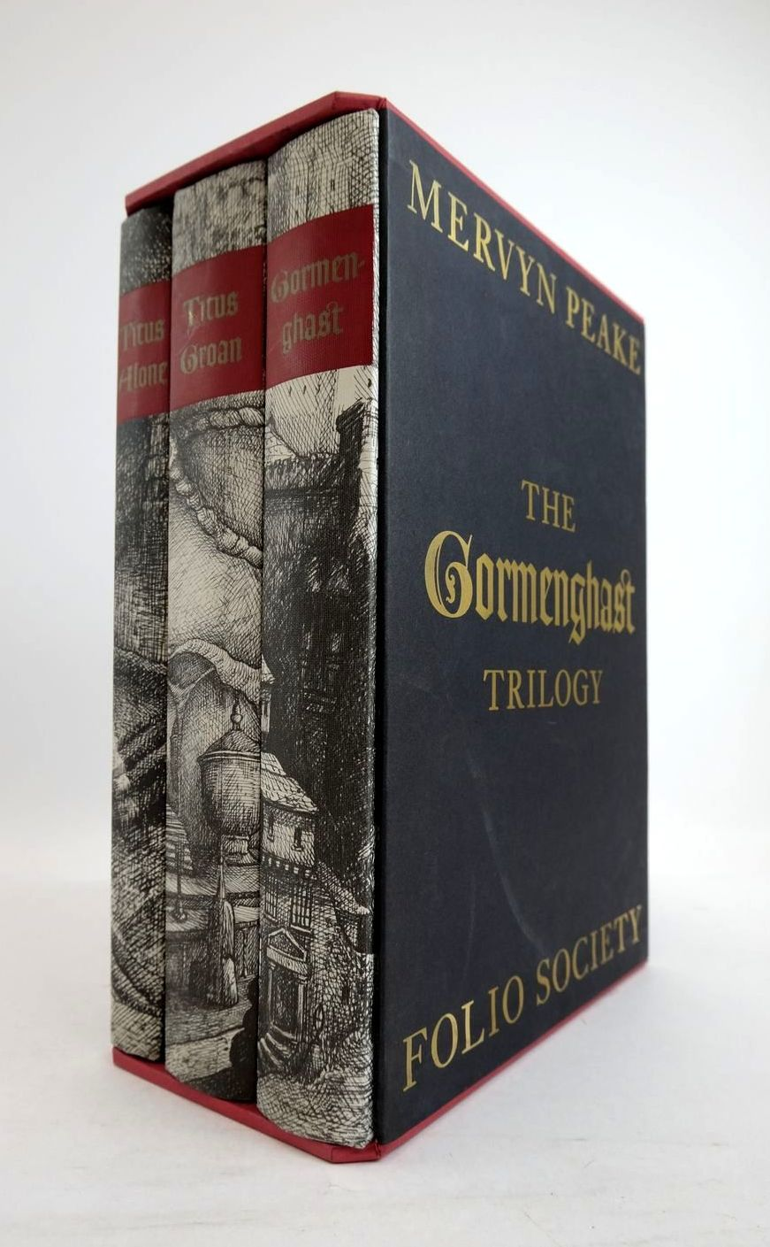 Photo of THE GORMENGHAST TRILOGY (3 VOLUMES) written by Peake, Mervyn illustrated by Harding, Peter published by Folio Society (STOCK CODE: 1821352)  for sale by Stella & Rose's Books