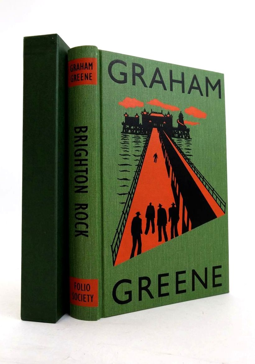 Photo of BRIGHTON ROCK written by Greene, Graham Sutherland, John illustrated by Grandfield, Geoff published by Folio Society (STOCK CODE: 1821361)  for sale by Stella & Rose's Books