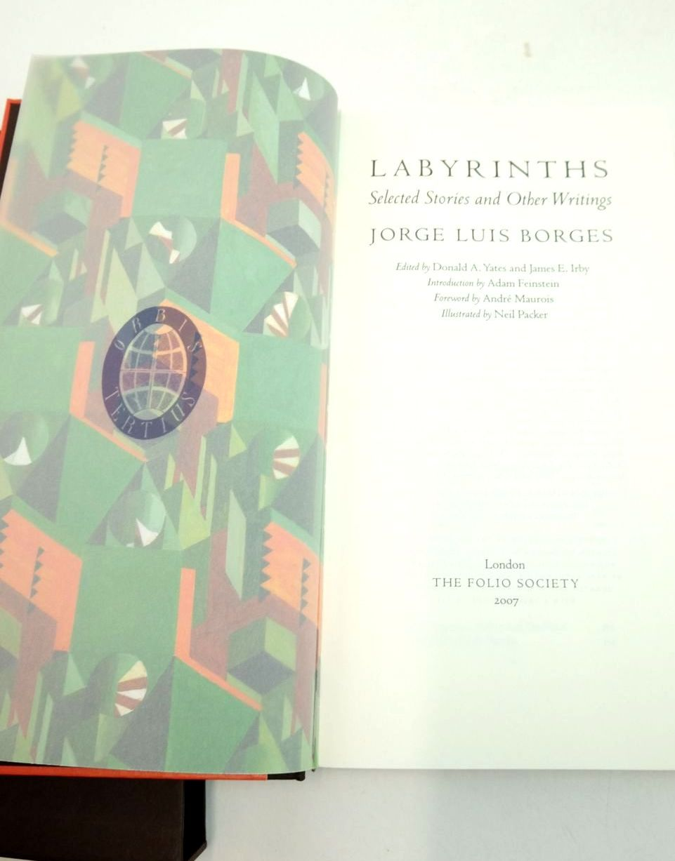 Photo of LABYRINTHS: SELECTED STORIES AND OTHER WRITINGS written by Borges, Jorge Luis Feintstein, Adam Maurois, Andre illustrated by Packer, Neil published by Folio Society (STOCK CODE: 1821485)  for sale by Stella & Rose's Books