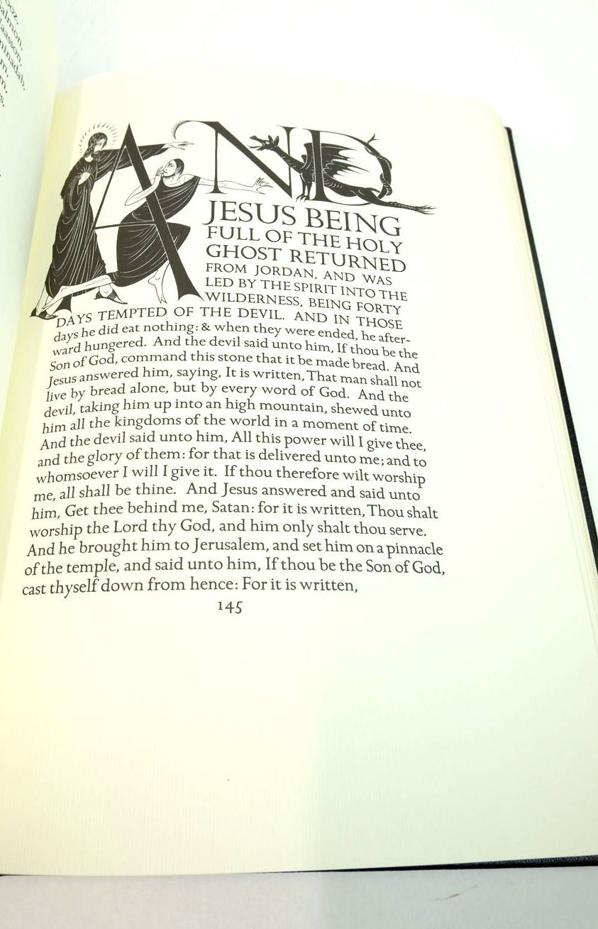 Photo of THE FOUR GOSPELS OF THE LORD JESUS CHRIST written by Dreyfus, John Gibbings, Robert illustrated by Gill, Eric published by Folio Society, The Golden Cockerel Press (STOCK CODE: 1822041)  for sale by Stella & Rose's Books
