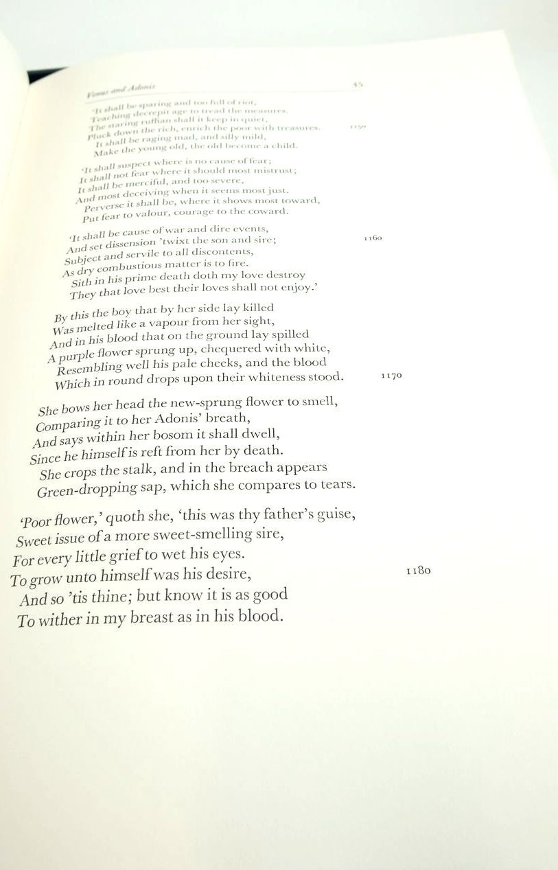 Photo of SONNETS & POEMS (THE LETTERPRESS SHAKESPEARE) written by Shakespeare, William Burrow, Colin published by Folio Society (STOCK CODE: 1822042)  for sale by Stella & Rose's Books
