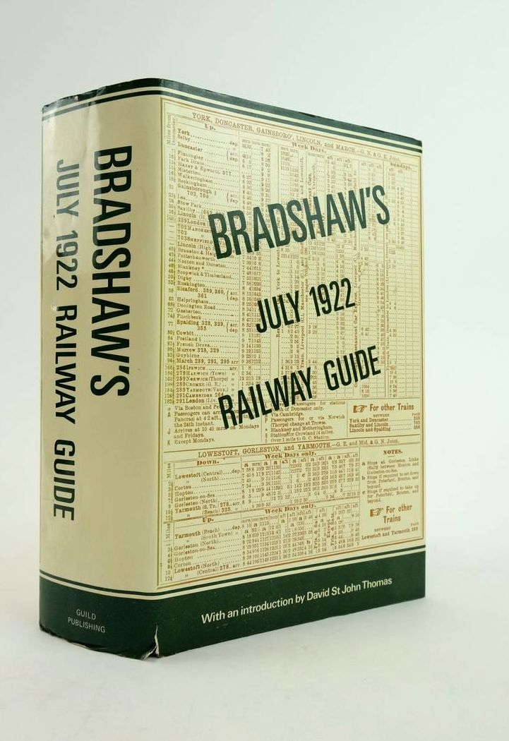 Photo of BRADSHAW'S JULY 1922 RAILWAY GUIDE written by Thomas, David St John published by Guild Publishing (STOCK CODE: 1822150)  for sale by Stella & Rose's Books
