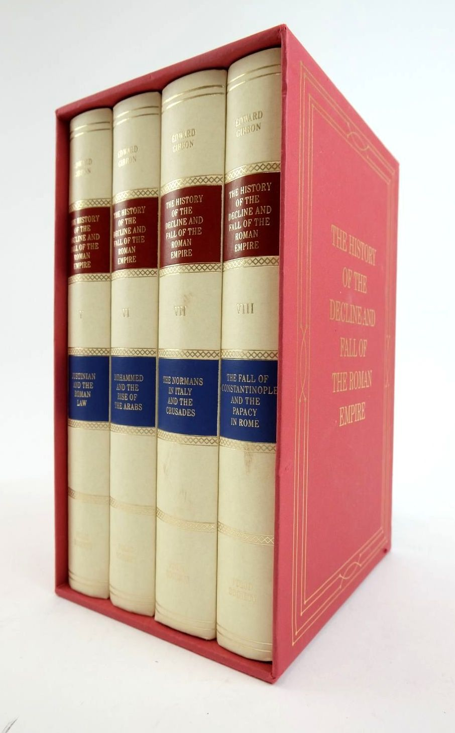 Photo of THE HISTORY OF THE DECLINE AND FALL OF THE ROMAN EMPIRE VOL V-VIII written by Gibbon, Edward published by Folio Society (STOCK CODE: 1822174)  for sale by Stella & Rose's Books