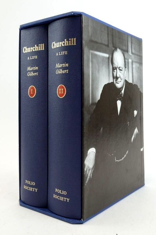 Photo of CHURCHILL A LIFE (2 VOLUMES) written by Gilbert, Martin published by Folio Society (STOCK CODE: 1822255)  for sale by Stella & Rose's Books