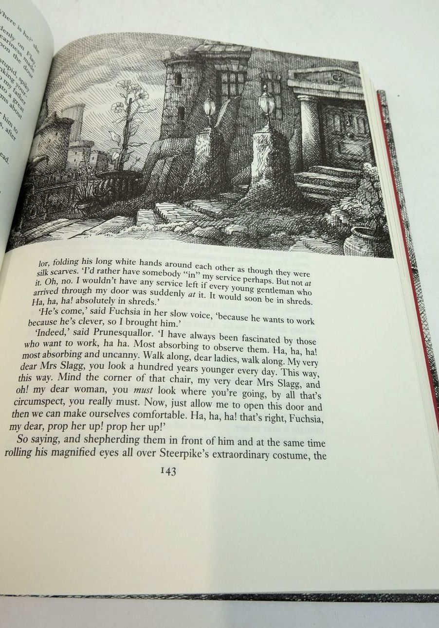 Photo of THE GORMENGHAST TRILOGY (3 VOLUMES) written by Peake, Mervyn illustrated by Harding, Peter published by Folio Society (STOCK CODE: 1822446)  for sale by Stella & Rose's Books