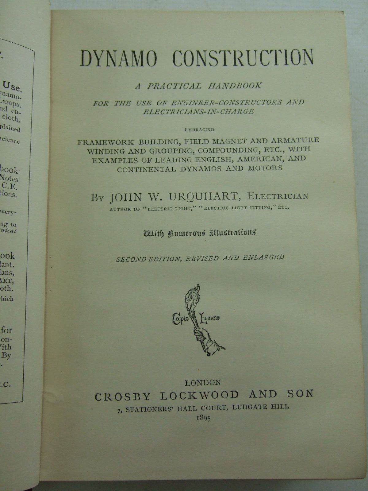 Photo of DYNAMO CONSTRUCTION written by Urquhart, John W. published by Crosby Lockwood and Son (STOCK CODE: 2107929)  for sale by Stella & Rose's Books
