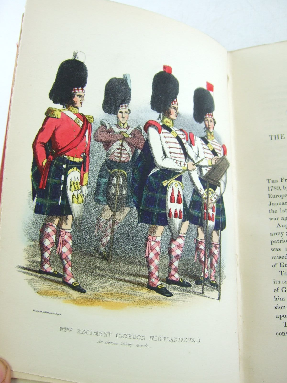 Photo of HISTORICAL RECORD OF THE NINETY-SECOND REGIMENT, ORIGINALLY TERMED THE GORDON HIGHLANDERS AND NUMBERED THE HUNDRETH REGIMENT written by Cannon, Richard published by Parker, Furnivall & Parker (STOCK CODE: 2109216)  for sale by Stella & Rose's Books