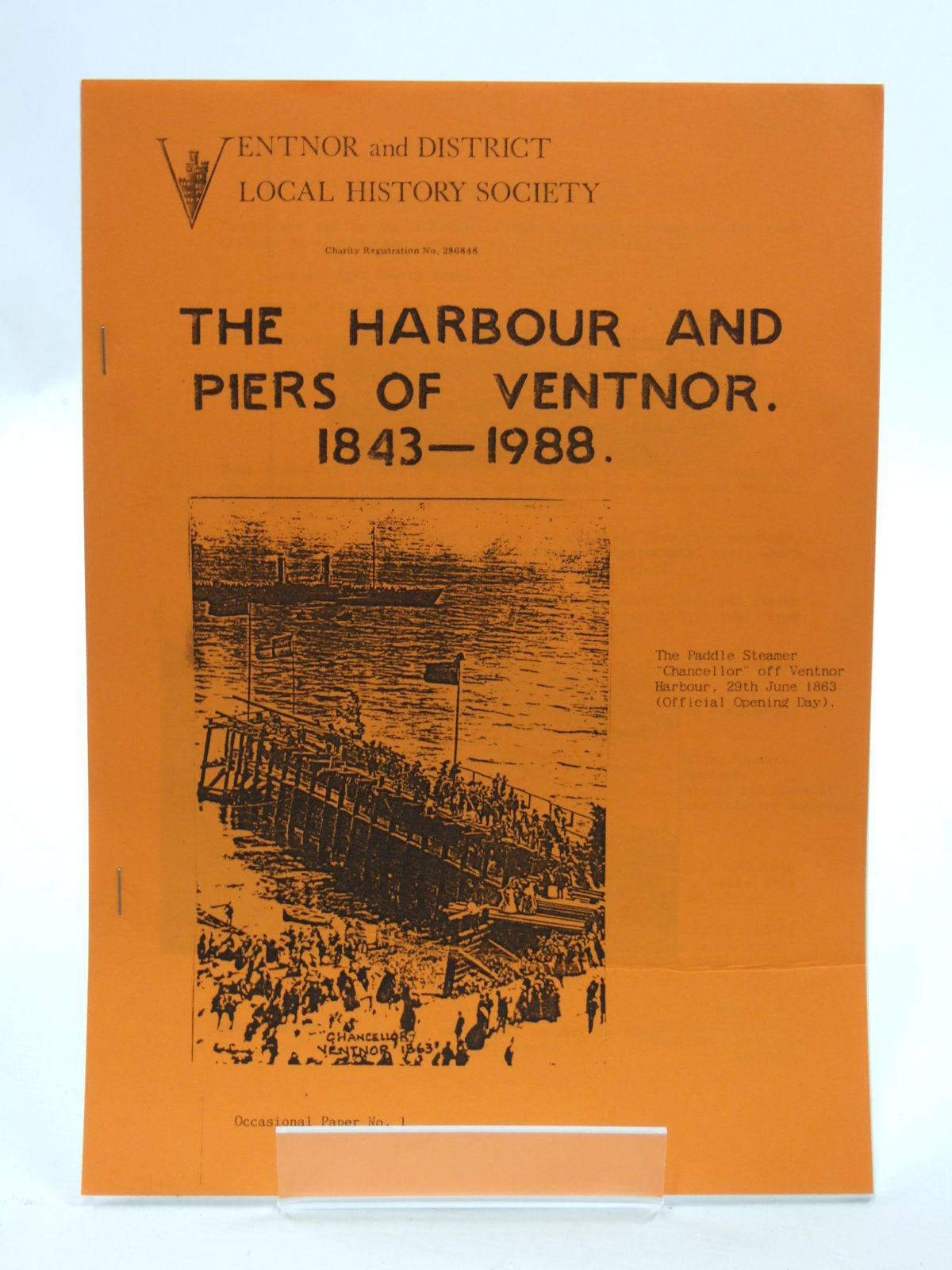 Photo of THE HARBOUR AND PIERS OF VENTNOR 1843-1988 written by Payne, E.D.G. published by Ventnor And District Local History Society (STOCK CODE: 2109958)  for sale by Stella & Rose's Books