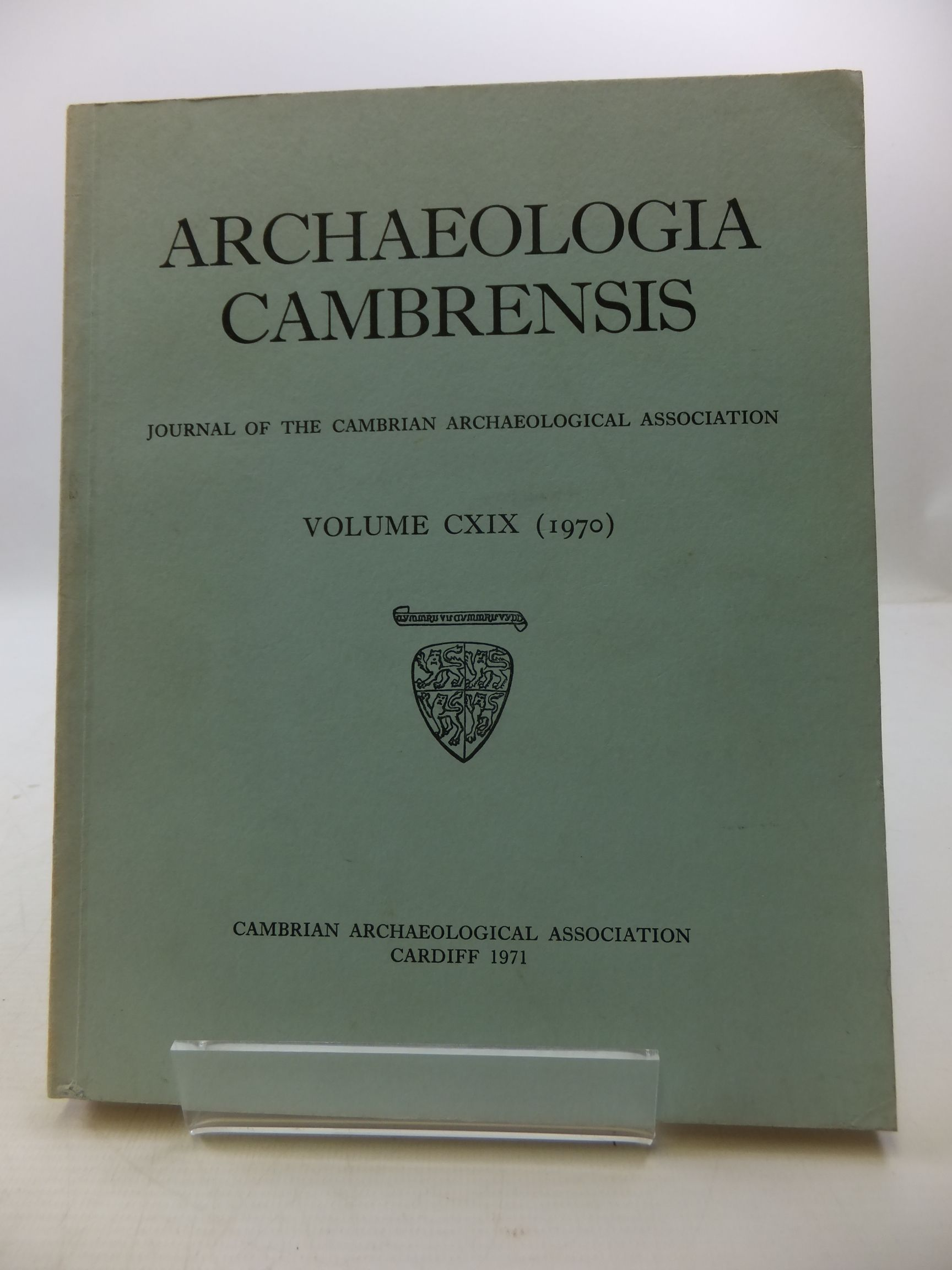Photo of ARCHAEOLOGIA CAMBRENSIS VOL CXIX- Stock Number: 2110477