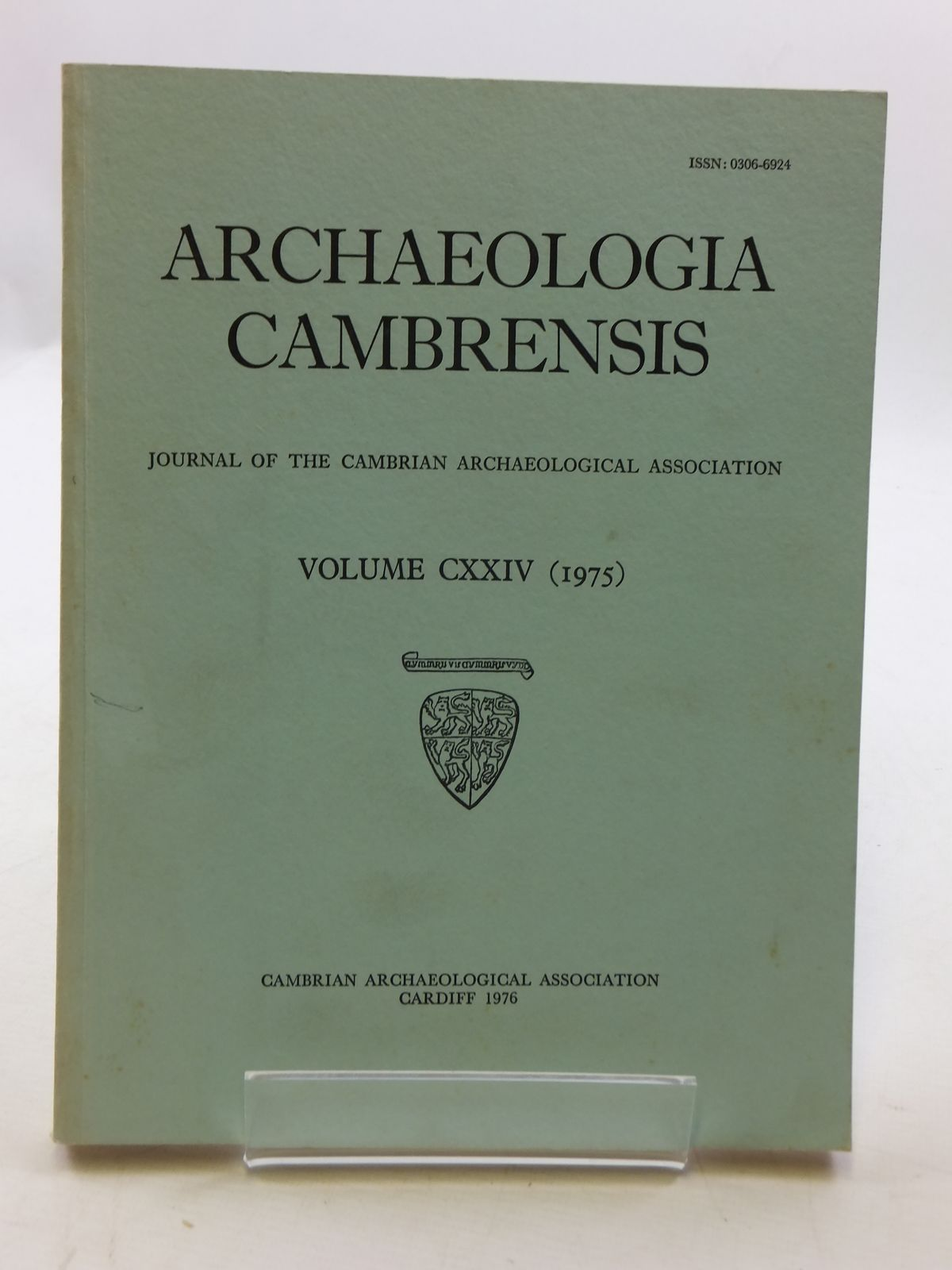 Photo of ARCHAEOLOGIA CAMBRENSIS VOL CXXIV published by Cambrian Archaeological Association (STOCK CODE: 2110612)  for sale by Stella & Rose's Books