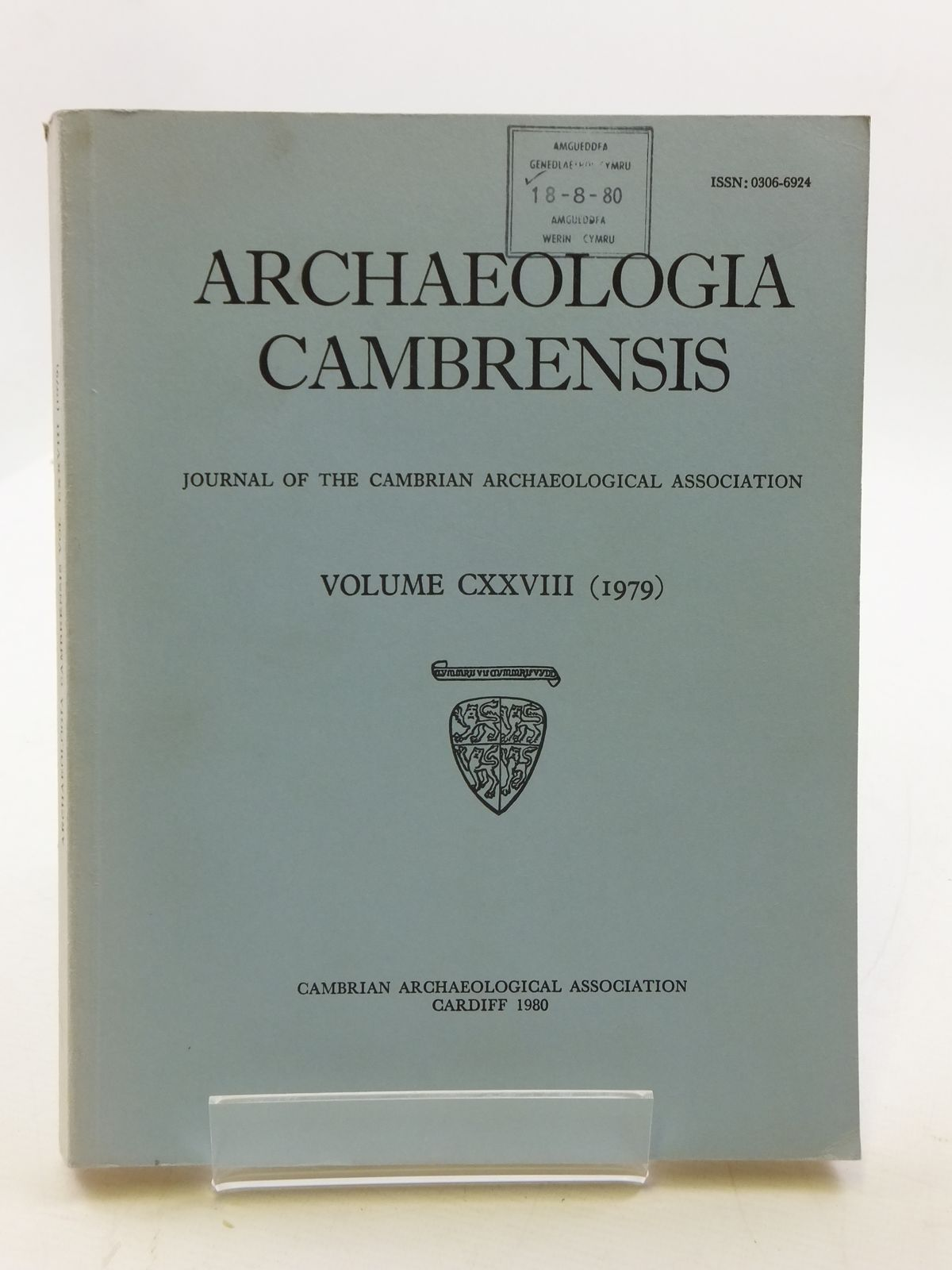 Photo of ARCHAEOLOGIA CAMBRENSIS VOL CXXVIII published by Cambrian Archaeological Association (STOCK CODE: 2110613)  for sale by Stella & Rose's Books