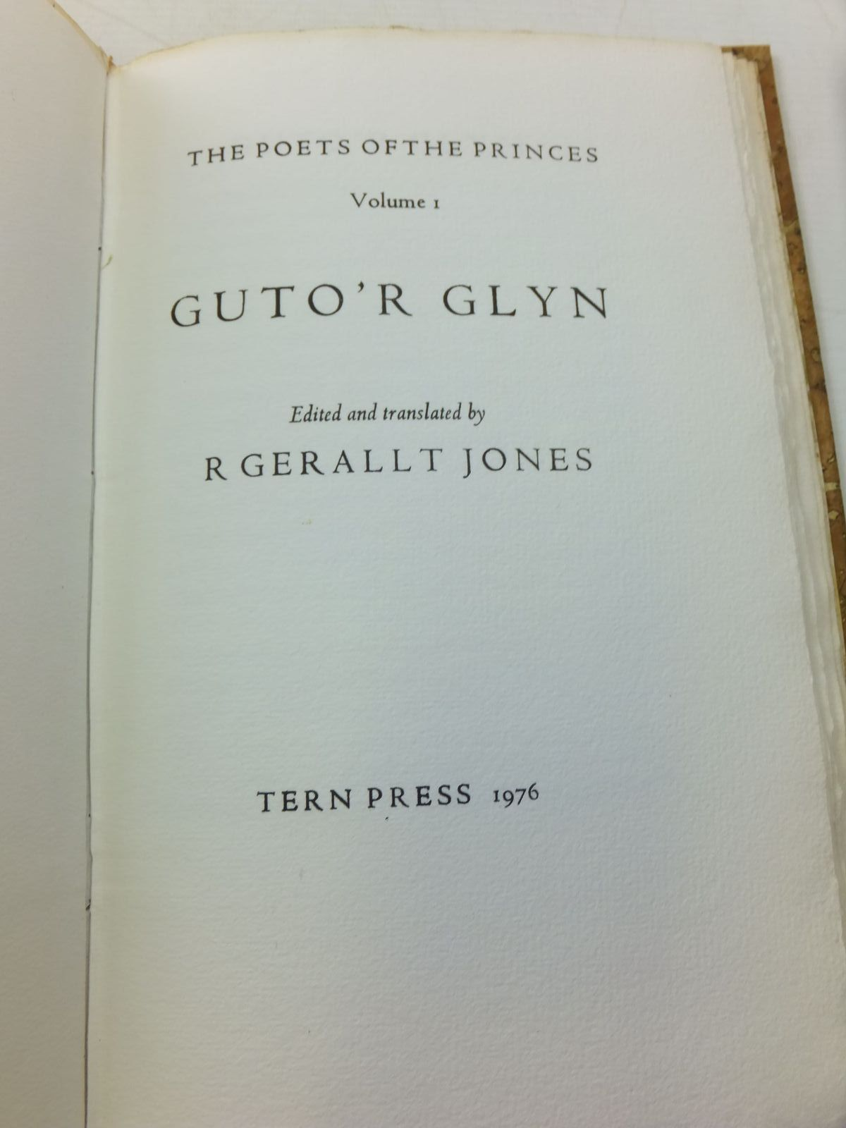 Photo of GUTO'R GLYN written by Jones, R. Gerallt illustrated by Parry, Nicholas published by Tern Press (STOCK CODE: 2111306)  for sale by Stella & Rose's Books