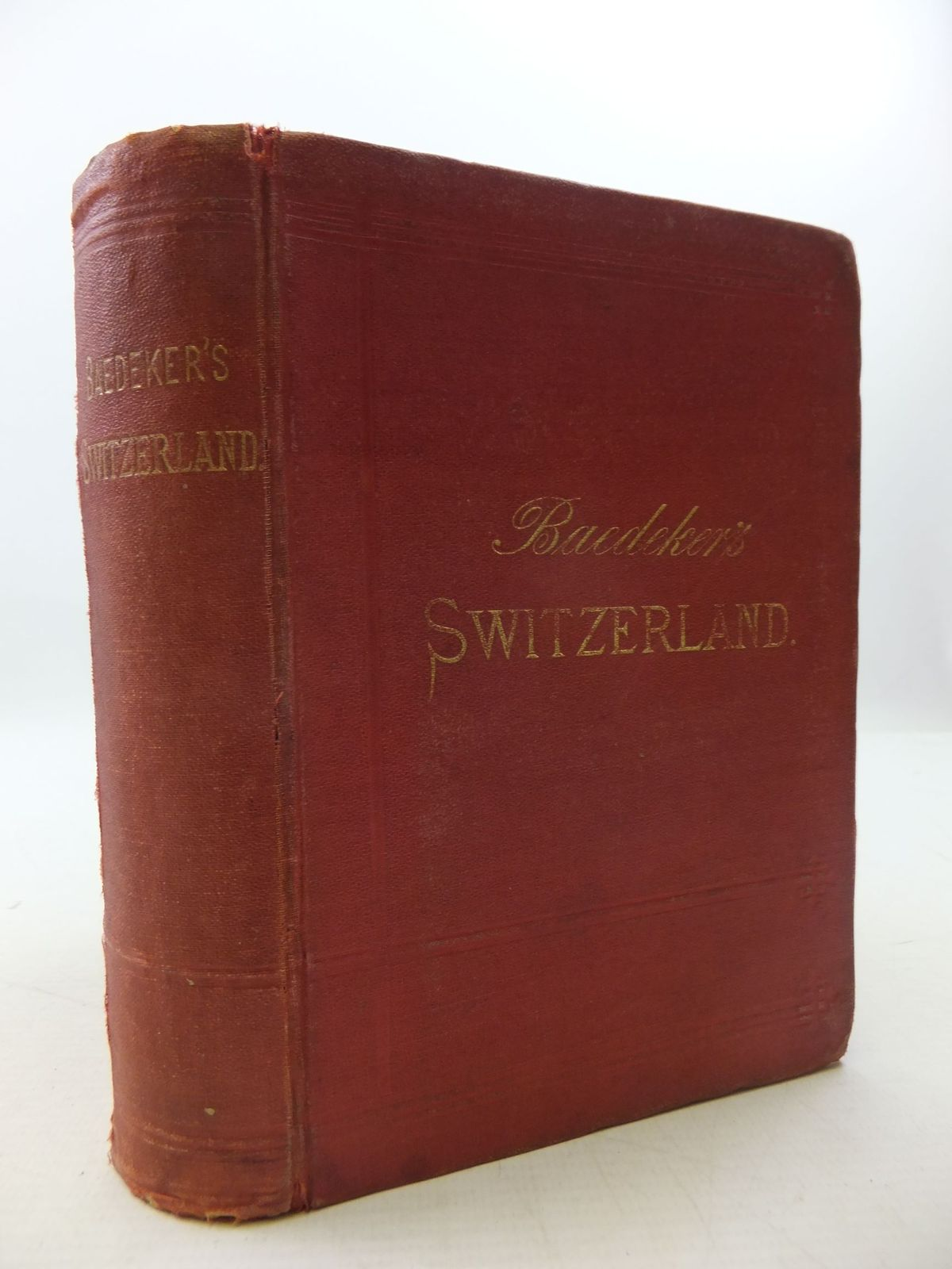 Photo of SWITZERLAND AND THE ADJACENT PORTIONS OF ITALY, SAVOY AND THE TYROL written by Baedeker, Karl published by Karl Baedeker (STOCK CODE: 2111492)  for sale by Stella & Rose's Books